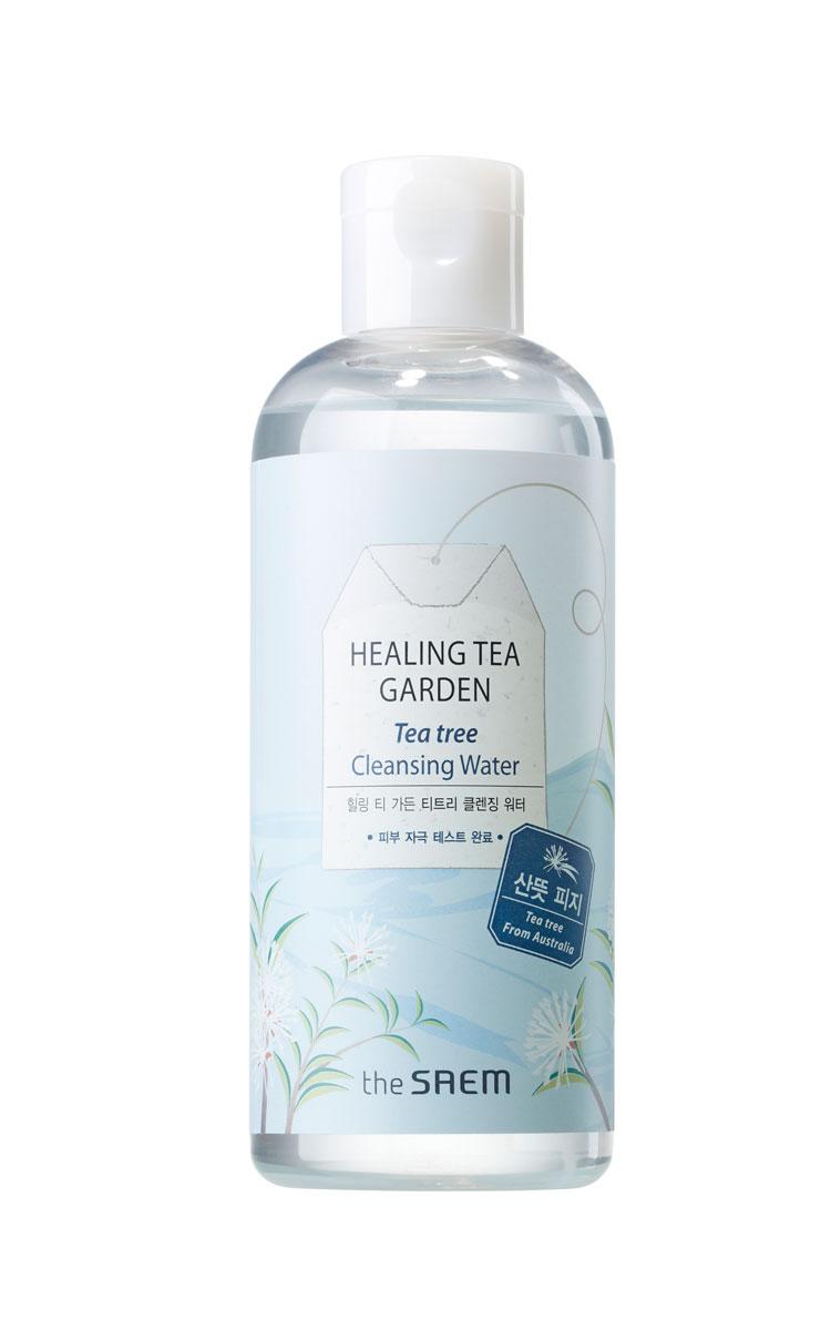 The Saem Вода очищающая увлажняющая с экстрактом чайного дерева Healing Tea Garden Tea Tree Cleansing Water, 300 млСМ987Очищающая вода подарит вам великолепное ощущение чистоты и свежести. Вода не только очищает кожу лица от загрязнений, но и интенсивно увлажняет её. Подходит для ежедневного использования, для любого типа кожи, для любого возраста. Особенно рекомендуется применять воду для сухой, обезвоженной, чувствительной, проблемной и раздраженной кожи. Основной компонент воды – масло чайного дерева, которое является мощным антисептиком, оказывает противовоспалительное, бактерицидное, противогрибковое, противовирусное и ранозаживляющее действие. Объём: 300 мл