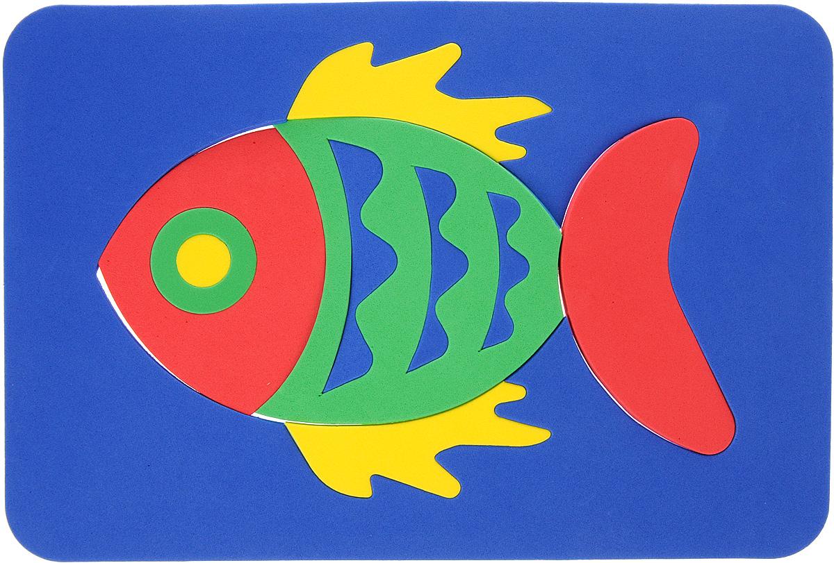 Август Пазл для малышей Рыбка цвет основы синий