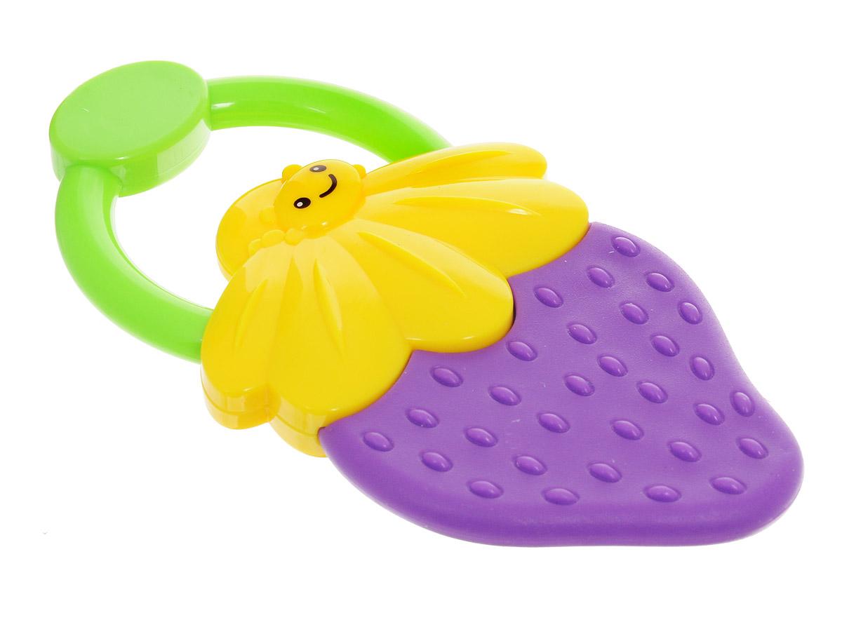 Bondibon Погремушка Ягодка цвет фиолетовый желтыйВВ1483_фиолетовый, желтыйПогремушка с прорезывателем Bondibon Ягодка сможет развлечь ребенка как дома, так и на прогулке, в поездке или гостях. Она изготовлена из прочного пластика и выполнена в виде забавной улыбающейся ягодки с небольшим удобным кольцом-держателем. Соприкасающаяся с деснами ребенка поверхность прорезывателя достаточно мягкая, чтобы нечаянно не поранить десны при надавливании, и в меру жесткая для того, чтобы ее пожевать или погрызть во время роста молочных зубов. Погремушка специально разработана с учетом особенностей строения ручек малыша и не будет скользить. Яркие цвета и звуки, которые издает игрушка, развивают слуховое и зрительное восприятие, пространственное мышление и тактильные ощущения. Погремушку можно стерилизовать при температуре до 120 °С.