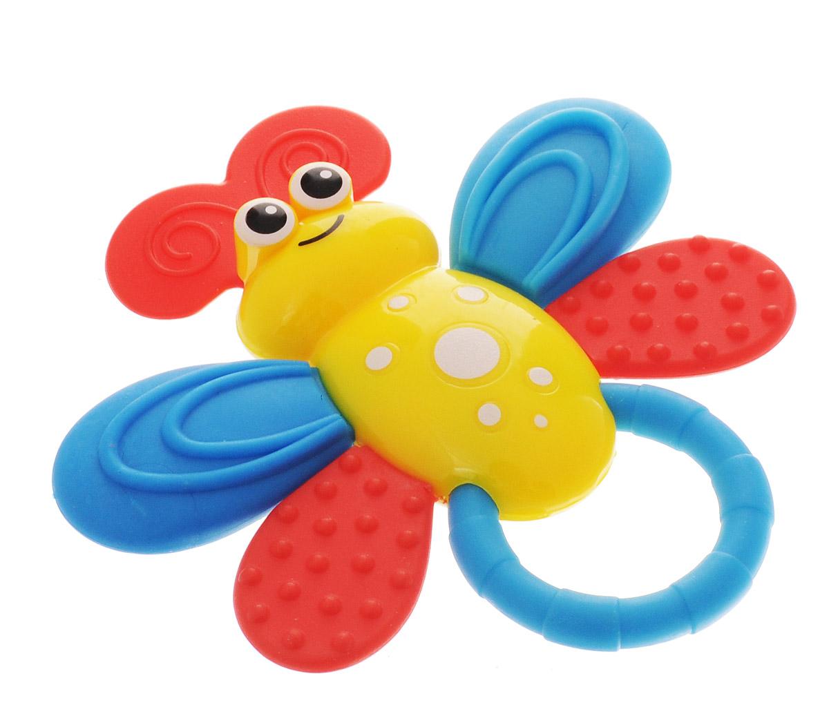 Bondibon Погремушка Пчелка цвет желтыйВВ1482_желтыйПогремушка с прорезывателем Bondibon Пчелка сможет развлечь ребенка, как дома, так и на прогулке, в поездке или гостях. Она изготовлена из прочного пластика и выполнена в виде забавной пчелки с небольшим удобным кольцом-держателем. Соприкасающаяся с деснами ребенка поверхность прорезывателя достаточно мягкая, чтобы не поранить десны при надавливании, и в меру жесткая для того, чтобы ее пожевать или погрызть во время роста молочных зубов. Погремушка специально разработана с учетом особенностей строения ручек малыша и не будет скользить. Яркие цвета и звуки, которые издает игрушка, развивают слуховое и зрительное восприятие, пространственное мышление и тактильные ощущения. Погремушку можно стерилизовать при температуре до 120 °С.