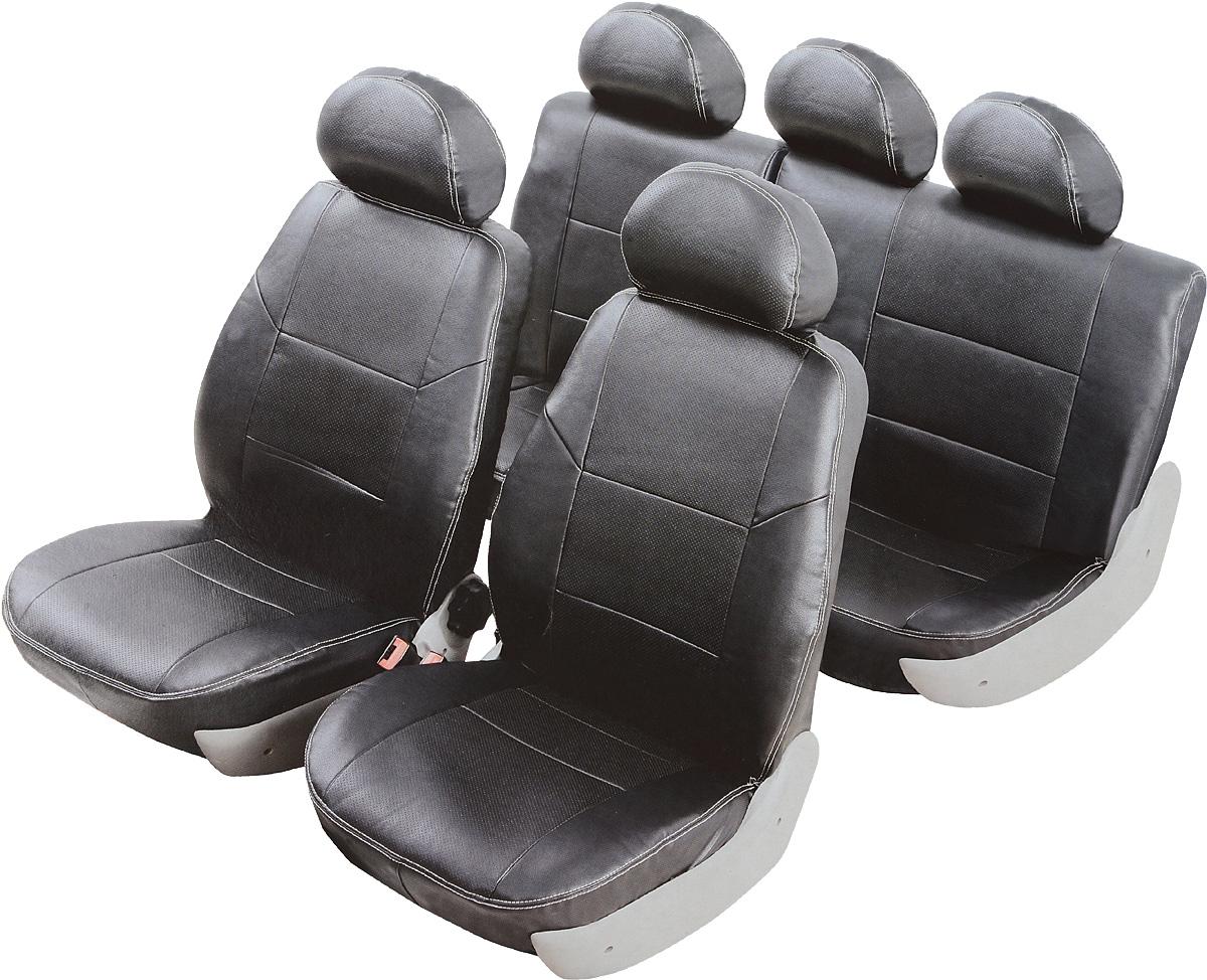 Чехлы автомобильные Senator Atlant, для Nissan Almera III 2012-, раздельный задний ряд, цвет: черныйS1010461Автомобильные чехлы Senator Atlant изготовлены из качественной мягкой экокожи, триплированной огнеупорным поролоном толщиной 5 мм, за счет чего чехол приобретает дополнительную мягкость. Подложка из спандбонда сохраняет свойства поролона и предотвращает его разрушение. Водительское сиденье имеет усиленные швы, все внутренние соединительные швы обработаны оверлоком. Чехлы идеально повторяют штатную форму сидений и выглядят как оригинальный кожаный салон. Разработаны индивидуально для каждой модели автомобиля. Дизайн чехлов Senator Atlant приближен к оригинальной обивке салона. Чехлы имеют вставки из перфорированной кожи по центру переднего сиденья и на подголовниках, которые создают дополнительный комфорт во время поездки. Декоративная контрастная прострочка по периметру авточехлов придает стильный и изысканный внешний вид интерьеру автомобиля. В спинках передних сидений расположены карманы, закрывающиеся на молнию. Чехлы сохраняют полную...