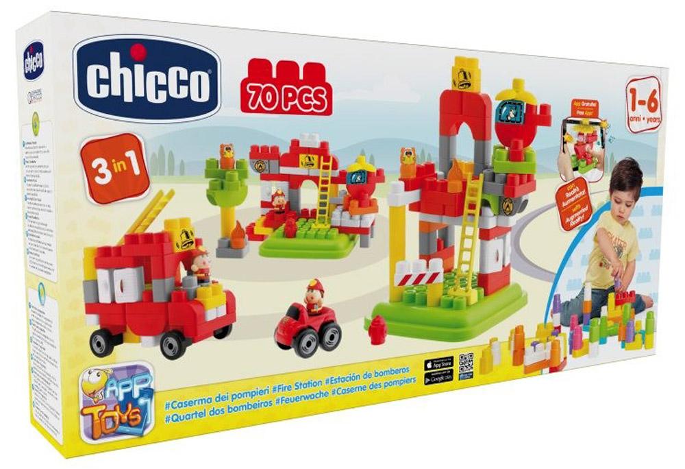 Chicco Конструктор Пожарная станция00007424000000Конструктор Chicco Пожарная станция привлечет внимание любого ребенка. Конструктор содержит 70 ярких пластиковых элементов для сборки пожарной станции, оборудованной вертолетом, площадкой для него, лестницей и пожарной машиной. Набор позволит ребенку без труда собрать двухэтажную пожарную станцию с лестницей, и пожарную машину с водителем. Подробная инструкция поможет вашему ребенку собрать этот великолепный конструктор. Ребенок сможет часами играть с этим конструктором, придумывая разные истории и комбинируя детали. Игры с конструкторами помогут ребенку развить воображение, внимательность, пространственное мышление и творческие способности.