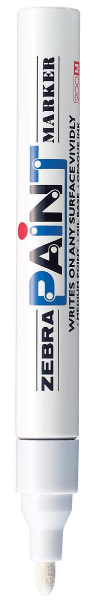 Zebra Маркер перманентный Paint белый312 203030Маркер перманентный Paint с износоустойчивым амортизированным наконечником, выполненный из пластика, станет незаменимым аксессуаром в учебе или работе. Маркер содержит жидкие чернила белого цвета, которые обеспечивают ровные и четкие линии. Насыщенный цвет сплошной линии, оставляемый маркером, не зависит от цвета окрашиваемой поверхности. Маркер перманентный Paint пишет на любой поверхности.