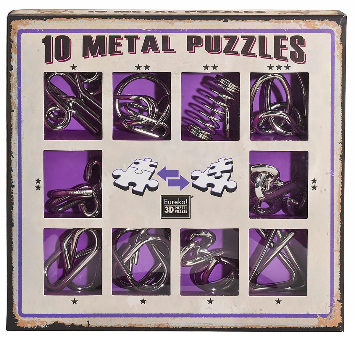 Eureka! Набор головоломок цвет фиолетовый 10 шт
