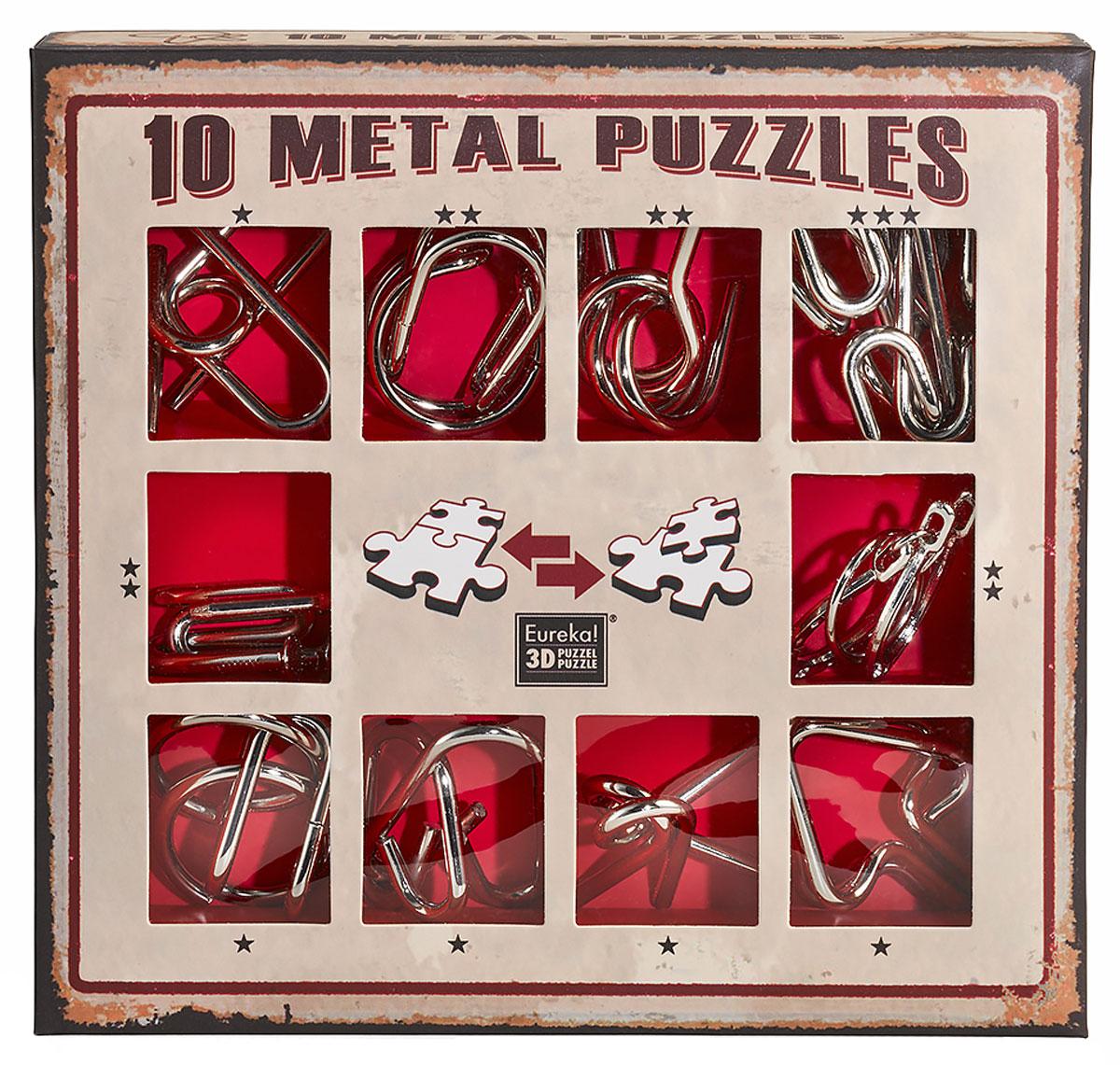 Eureka! Набор головоломок цвет красный 10 шт
