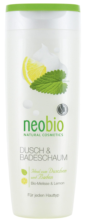 Neobio пена для душа и ванны с био-мелиссой и лимоном 250 мл60139Для всех типов кожи. Мягкие моющие вещества нежно и бережно очищают кожу. Натуральная формула с био-мелиссой и био-экстрактом лимонной цедры интенсивно питает и увлажняет кожу. Пышная, мягкая пена дарит коже нежный ароматом натуральных духов