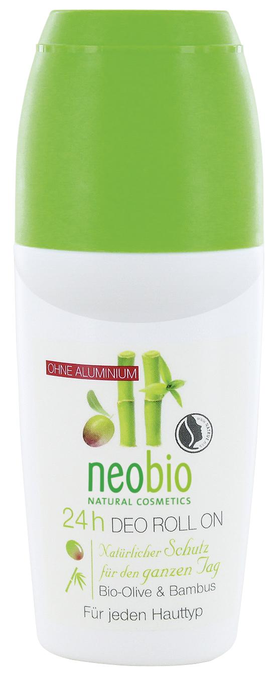 Neobio дезодорант шариковый 24 часа с био-оливой и бамбуком 50 мл60151Природная защита на целый день. Сбалансированный состав с био-экстрактами оливы и бамбука обеспечивают эффективную защиту на весь день. Масло шалфея способствует дезодорирующему эффекту и дарит ощущение свежести.