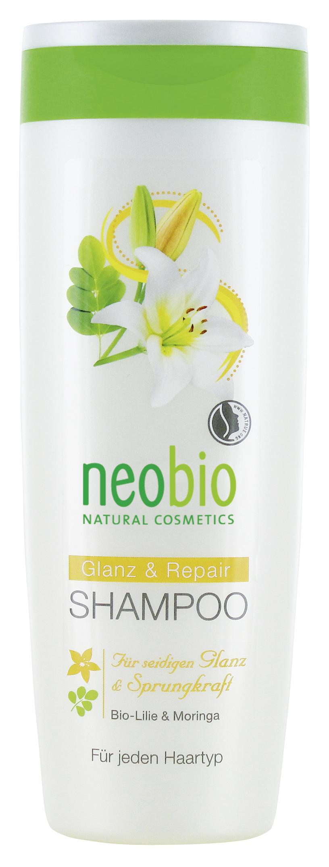 Neobio шампунь для восстановления и блеска волос с био-лилией и морингой 250 мл60158Для шелковистого блеска и гладкости волос. Для всех типов волос. Разработан специально для поврежденных волос. Мягкие растительные моющие вещества нежно очищают волосы и кожу головы. Состав с био-экстрактом лилии и экстрактом семян моринги интенсивно восстанавливает уставшие волосы. Сбалансированная формула с био-алоэ и бетаином придает волосам блеск и гладкость.