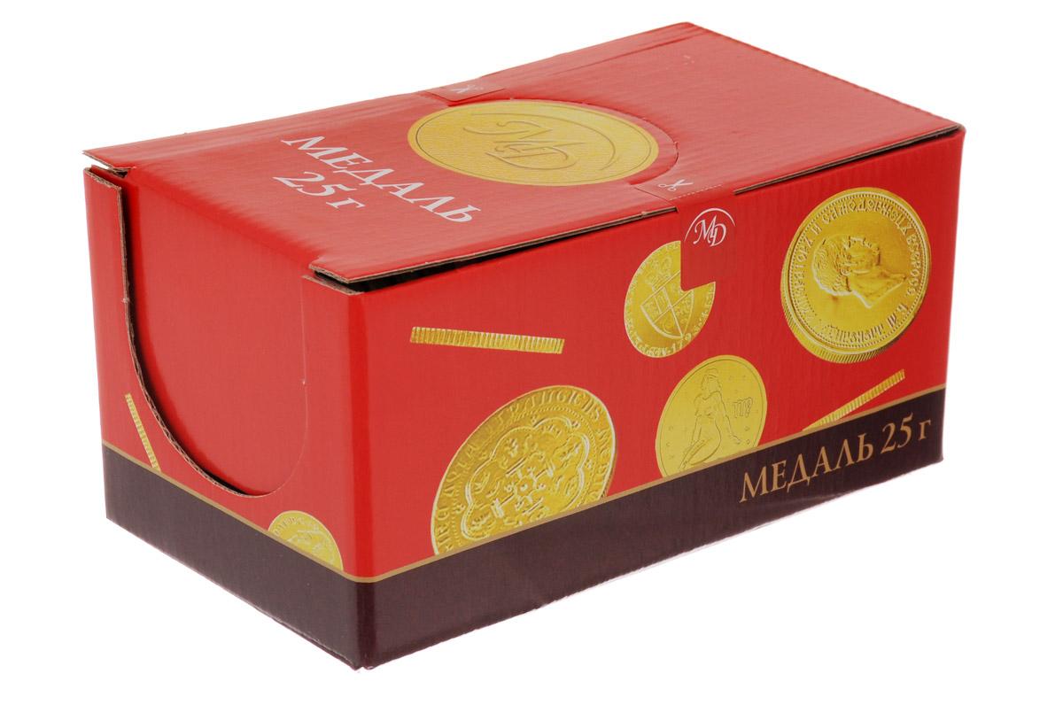 Монетный двор Знаки Зодиака шоколадные медали, 24 шт по 25 г13992Каким бы не было достижение, шоколадные медали станут великолепной наградой, ведь они так привлекательно смотрятся и, самое главное, обладают таким насыщенным, ярко выраженным вкусом сортового шоколада. Пусть каждая победа будет отмечена вкусной наградой! Монетный двор Знаки зодиака - таинственные астральные знаки, которые так изящно смотрятся на золотых обертках этих вкусных шоколадных конфет!