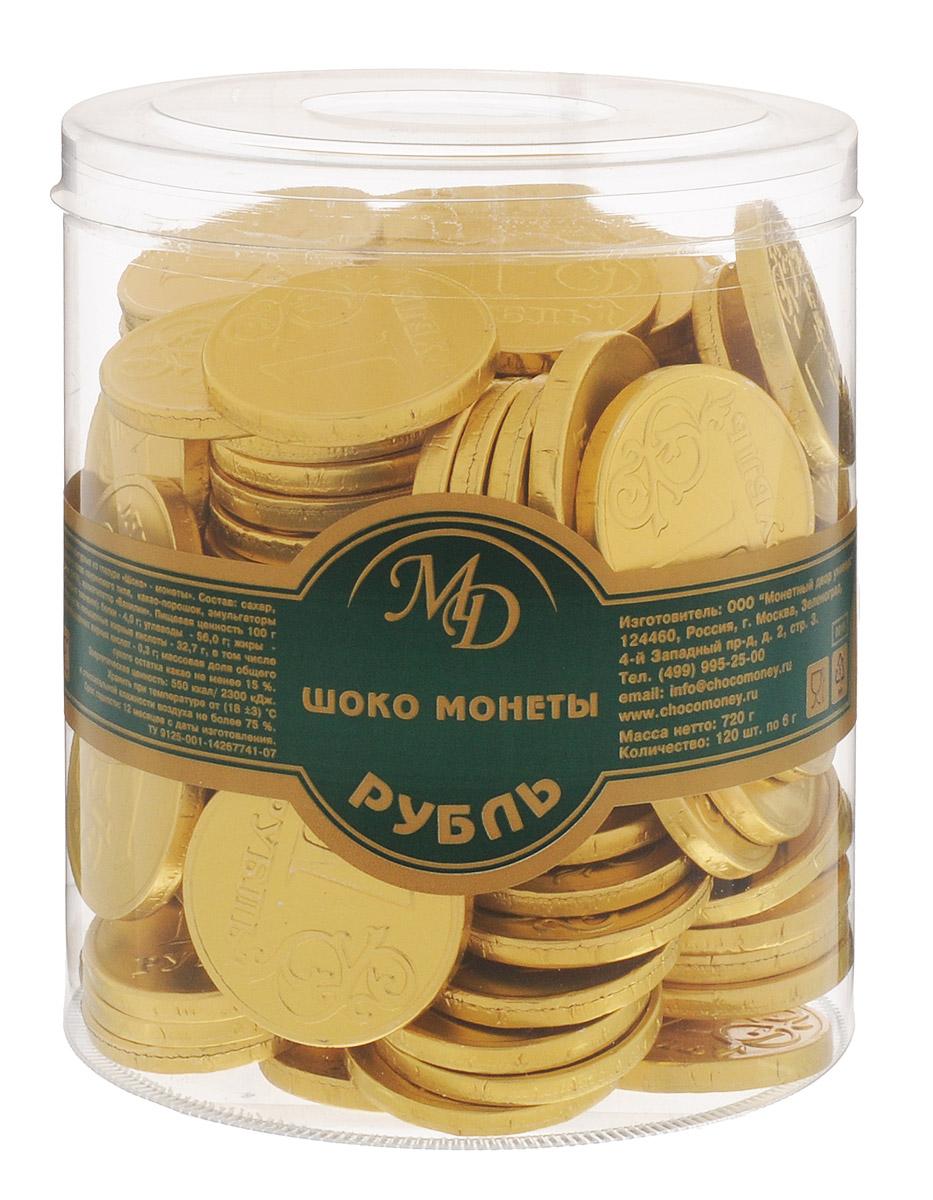 Монетный двор Шоколадные монеты Рубль, 120 шт по 6 г (пластиковая банка) 8243