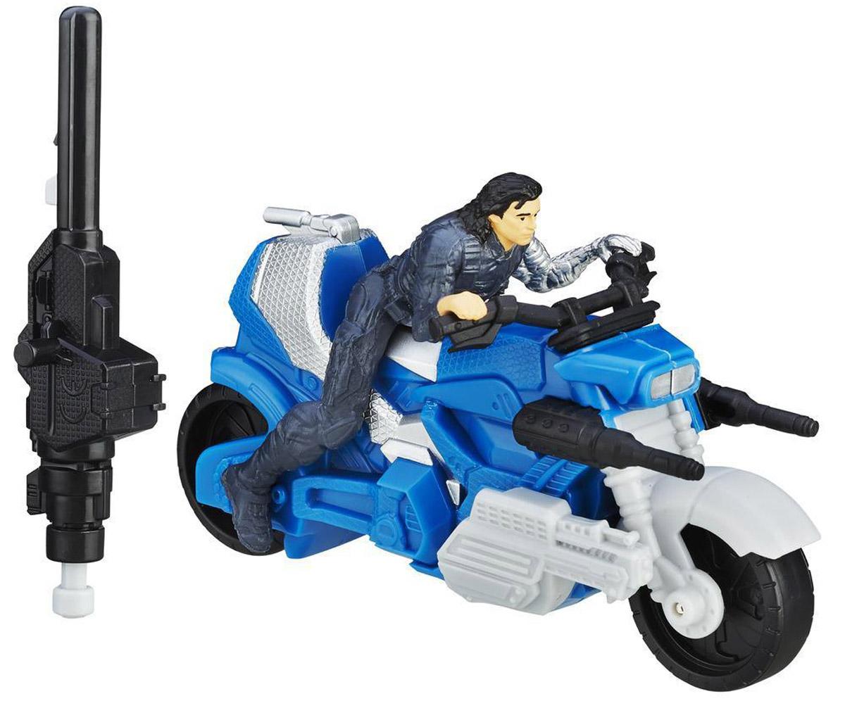 Avengers Боевой мотоцикл Winter Soldier с фигуркойB5769EU4_B6769Боевой мотоцикл Мстителей Marvel Winter Soldier порадует любого поклонника знаменитой вселенной Marvel. В комплекте с мотоциклом фигурка Зимнего солдата и пусковое устройство. Для придания мотоциклу ускорения необходимо присоединить пусковое устройство к мотоциклу и нажать на кнопку - он быстро поедет вперед. Игрушки Marvel понравятся как детям, так и взрослым коллекционерам, они станут отличным сувениром или займут достойное место в коллекции любого поклонника комиксов Marvel.