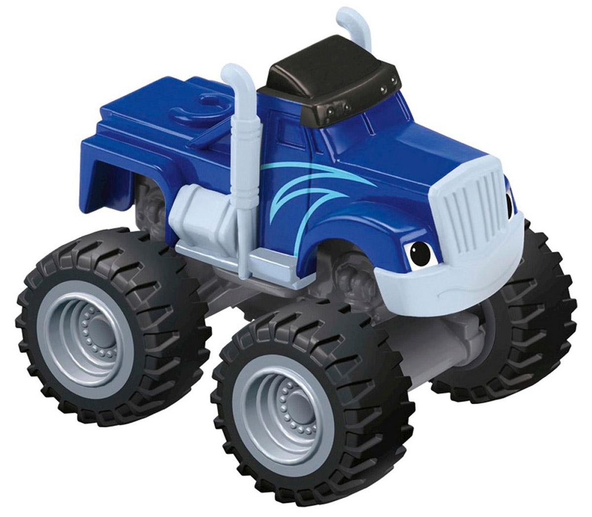 Blaze Машинка КрушилаCGF20_CGF22Машинка Blaze Крушила выполнена из металла и пластика в виде героя популярного мультсериала Вспыш и чудо-машинки. У этого мультяшного монстр-трака широкие колеса и крепкий кузов. Машинка свободно катается по любым поверхностям и легко повторяет трюки из мультфильма. Вспыш и чудо-машинки - история про Эй-Джея, восьмилетнего любителя техники, который водит пикап по имени Блейз (Вспыш), побеждающий на всех гонках в Аксель-Сити. Они вместе отправляются в приключения, требующие знания физики и математики. Их ждет множество трудностей от главного соперника Блейза (Вспыша) - Крашера (Крушила), грузовика, который готов пойти на всё, чтобы быть на финише первым.