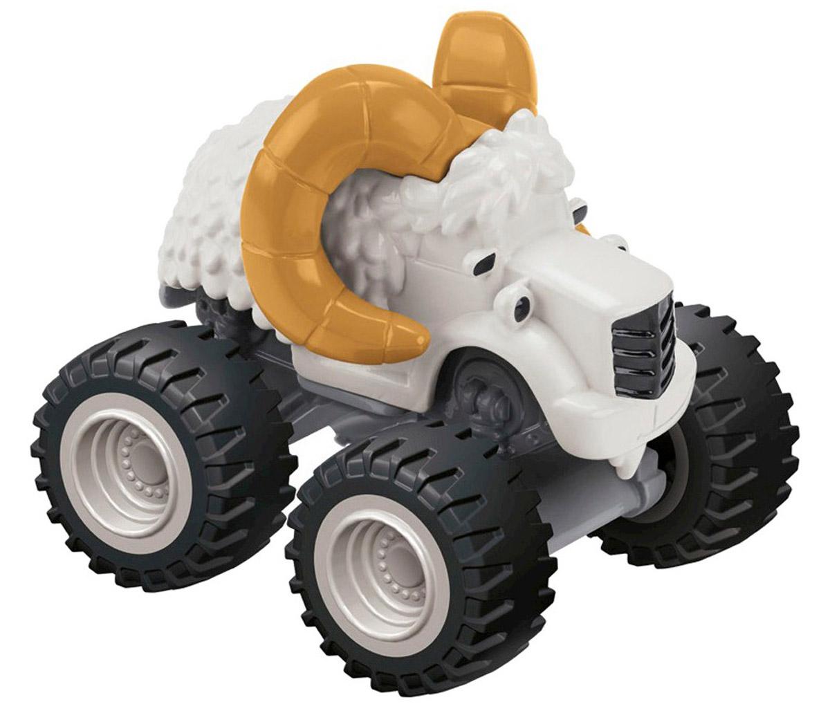 Blaze Машинка БольшерогCGF20_CKK64Машинка Blaze Большерог выполнена из металла и пластика в виде героя популярного мультсериала Вспыш и чудо-машинки. У этого мультяшного монстр-трака широкие колеса и широкая душа. Машинка свободно катается по любым поверхностям и легко повторяет трюки из мультфильма. Вспыш и чудо-машинки - история про Эй-Джея, восьмилетнего любителя техники, который водит пикап по имени Блейз (Вспыш), побеждающий на всех гонках в Аксель-Сити. Они вместе отправляются в приключения, требующие знания физики и математики. Их ждет множество трудностей от главного соперника Блейза (Вспыша) - Крашера (Крушила), грузовика, который готов пойти на всё, чтобы быть на финише первым.