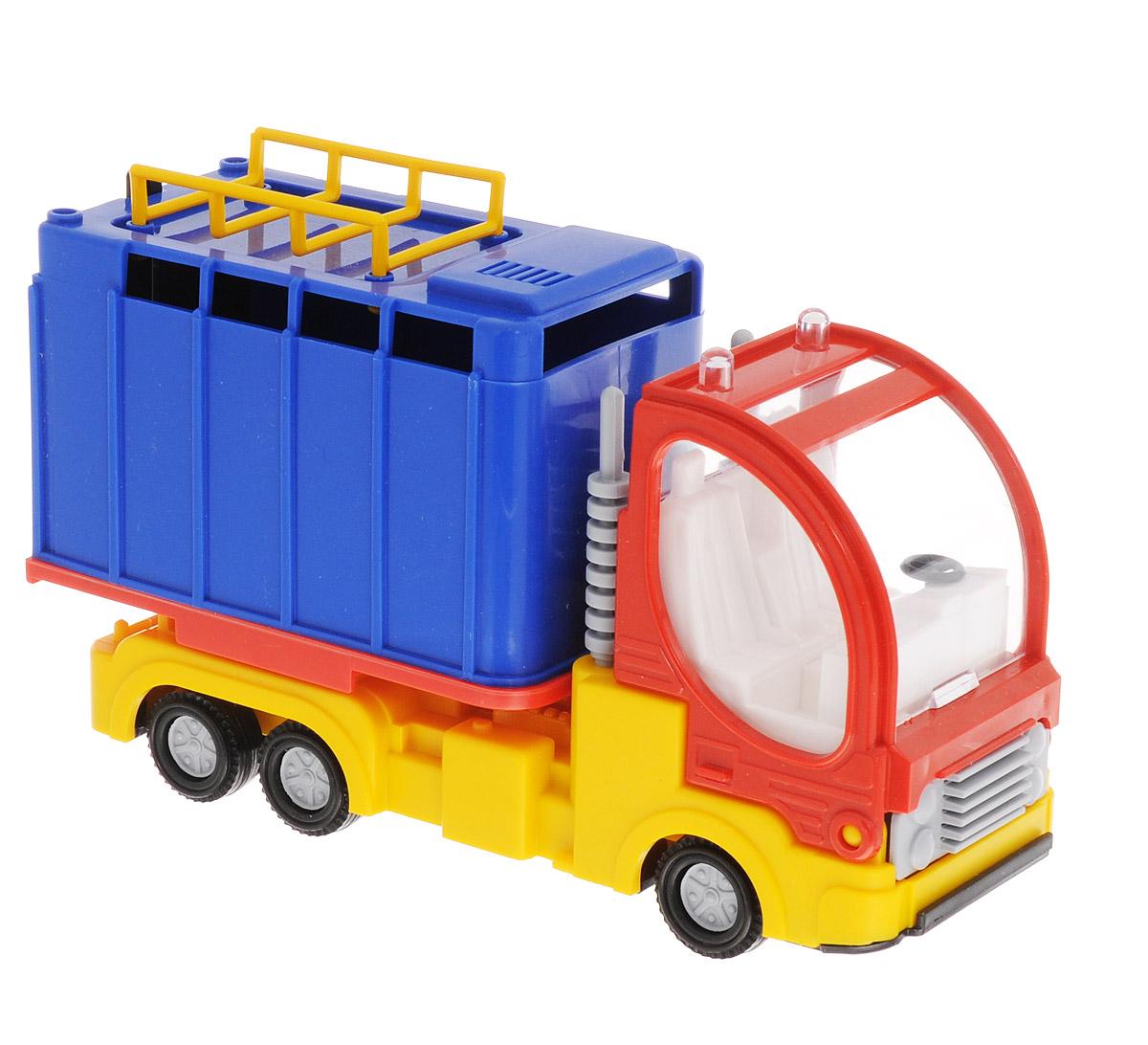Форма Малый Фургон цвет синийС-41-ФМашинка Малый фургон от бренда Форма станет главным развлечением вашего малыша. Кабина машины откидывается вперед и можно посмотреть моторный отсек. Двери фургона открываются и в него можно положить игрушечный груз. Игрушка создана из материала высокого качества, а ее дизайн напоминает реальную технику. Такая машинка обязательно порадует вашего малыша и станет замечательным подаркам для юного покорителя дорог.