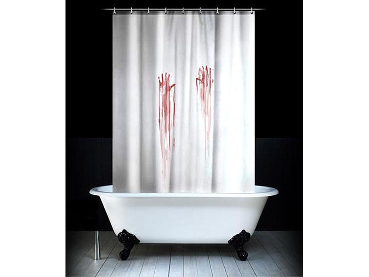 Штора для ванной комнаты Эврика Кровавая, 180 х 180 см97097Стильные, забавные, выполненные из качественного водонепроницаемого материала, занаBec ки для душа или ванной комнаты с Bec ёлыми картинками сделают простую гигиеническую процедуру гораздо более интригующей. Отличный подарок для людей, не обделённых чувством юмора. В комплект входят пластиковые петли для крепления на карнизе или шнуре. Материал: полиэстер Упаковка: полиэтилен, картон Размеры упаковки: 24x30x2,5 см.