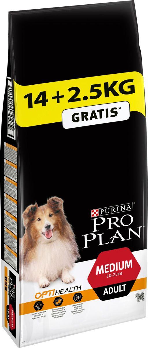 Корм сухой для собак, Pro Plan Medium Adult, 14 кг + 2,5 кг в подарок12272391При взгляде на здоровую собаку или кошку становится очевидной польза питания пищей высшего качества. Именно поэтому в состав кормов Pro Plan входят только ингредиенты высшего качества, обеспечивающие Вашему питомцу долгую жизнь и здоровье. Разработанные ветеринарами и диетологами компании Purina корма Pro Plan включают комбинацию незаменимых питательных веществ в пропорциях, обеспечивающих оптимальное функционирование защитных систем Вашего питомца. Результатом научных исследований является полнорационный корм, обеспечивающий природную защиту на всем протяжении жизни.