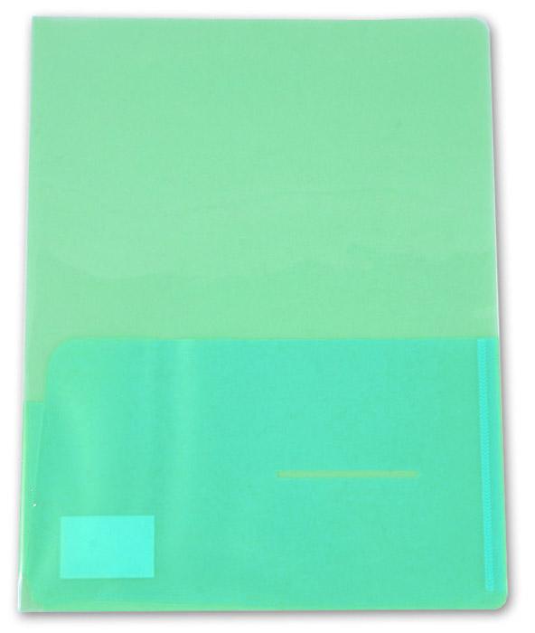 Бюрократ Папка-уголок цвет зеленый 915261