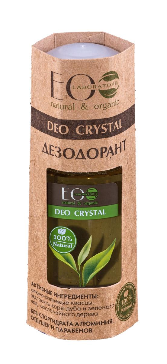 EcoLab ЭкоЛаб Дезодорант для тела Deo Crystal Кора дуба и зеленый чай 50 мл 4627089430939