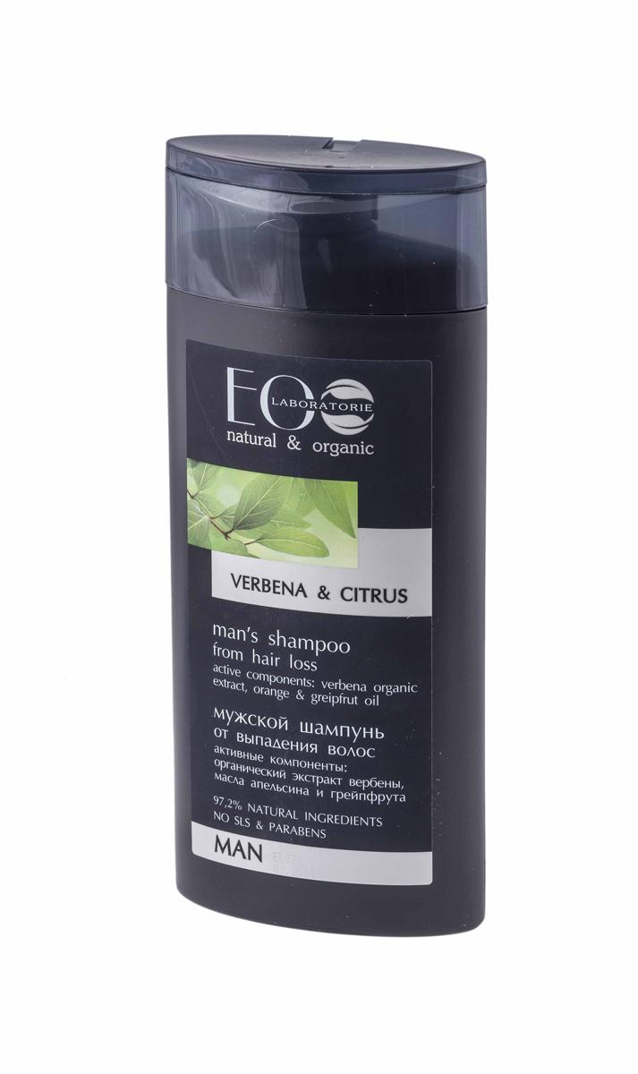 EcoLab ЭкоЛаб Шампунь для волос Против выпадения 250 мл4627089432018Он содержит более 97% ингредиентов растительного происхождения. В состав входят органические экстракты и масла. Продукт не содержит SLS, парабенов и силиконов. В производстве использованы только натуральные консерванты и красители.