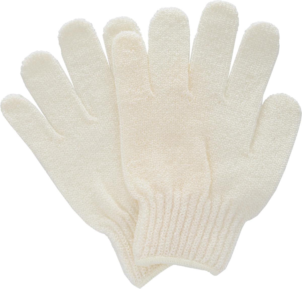 Перчатки для пилинга Riffi, цвет: молочный615_молочныйЭластичные безразмерные перчатки Riffi обладают активным антицеллюлитным эффектом и отличным пилинговым действием, тонизируя, массируя и эффективно очищая вашу кожу. Перчатки Riffi освобождает кожу от отмерших клеток, стимулирует регенерацию. Эффективно предупреждают образование целлюлита и обеспечивают омолаживающий эффект. Кожа становится гладкой, упругой и лучше готовой к принятию косметических средств. Интенсивный и пощипывающий свежий массаж тела с применением перчаток Riffi стимулирует кровообращение, активирует кровоснабжение, способствует обмену веществ. В комплекте 1 пара перчаток.