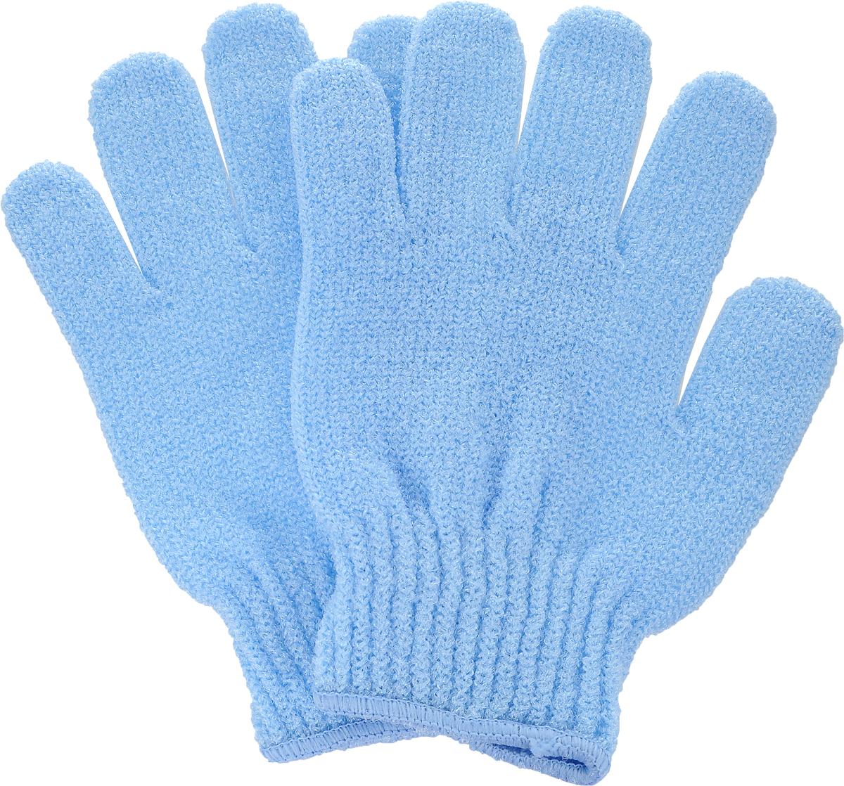 Перчатки для пилинга Riffi, цвет: голубой615_голубойЭластичные безразмерные перчатки Riffi обладают активным антицеллюлитным эффектом и отличным пилинговым действием, тонизируя, массируя и эффективно очищая вашу кожу. Перчатки Riffi освобождает кожу от отмерших клеток, стимулирует регенерацию. Эффективно предупреждают образование целлюлита и обеспечивают омолаживающий эффект. Кожа становится гладкой, упругой и лучше готовой к принятию косметических средств. Интенсивный и пощипывающий свежий массаж тела с применением перчаток Riffi стимулирует кровообращение, активирует кровоснабжение, способствует обмену веществ. В комплекте 1 пара перчаток.