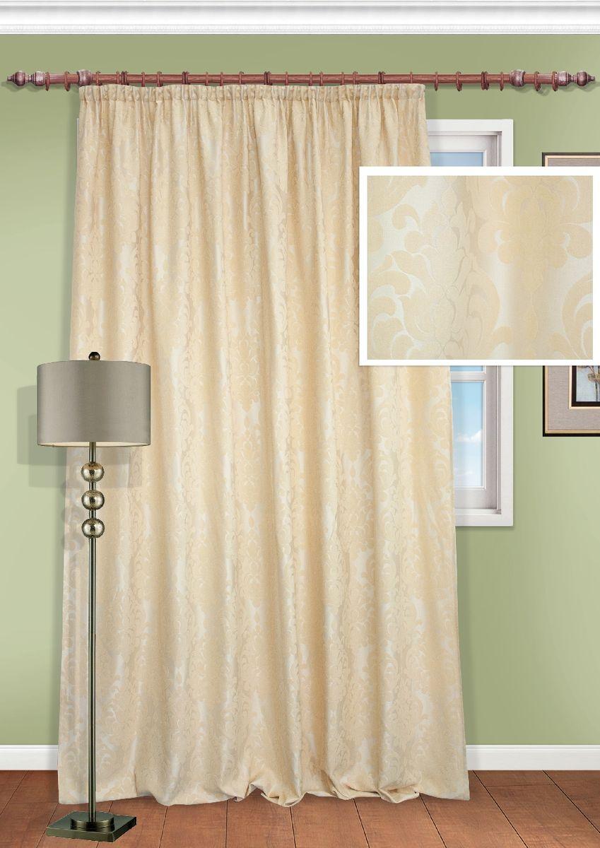 Портьера KauffOrt Бордо, на ленте, высота 270 см. 3111325620SH3111325620SHКомплектация: 1 Портьера, термоклеевая лента, для регулирования высоты шторы. Материал: Жаккард, рисунок мягкий шеннил . Состав: 100% Полиэстер. Цвет: Основной: светло бежевый. Применение: гостиная, спальня.