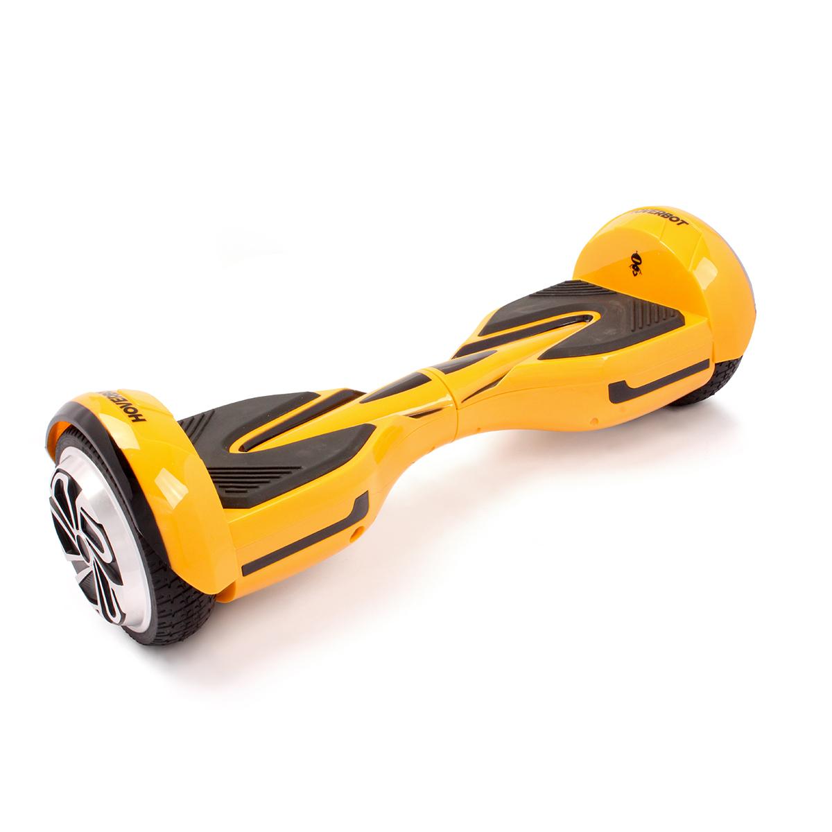 Гироскутер Hoverbot A-12 (H-2), цвет: желтыйGA12YWГироскутер Hoverbot A12 имеет современный спортивный дизайн, который располагает к быстрой езде. Данная модель отлично подойдёт для опытных пользователей. Устройство по праву занимает одно из достойных мест в классе 6,5 колёс. Имея большой запас хода и мощный мотор (2х400W) Hoverbot A12, бесшумно преодолевает расстояние в 15 км на одном заряде батареи. Хорошее сцепление с дорогой и устойчивый ход борда A12 позволяет опытным райдерам быстро набирать скорость и успешно маневрировать даже в самых экстремальных ситуациях. Покупая Hoverbot A12 вы покупаете не только средство для развлечения, но и универсальное средство передвижения, которое можно легко брать с собой в дорогу, поскольку он компактен и помещается в любую машину. Благодаря своему небольшому весу (10 кг) вы легко можете взять его в руки за центральную часть борда и перенести через препятствие, продолжить свой путь в автобусе, либо в метро. Hoverbot А12 оснащён передними ходовыми огнями и габаритами сзади. Вся подсветка...