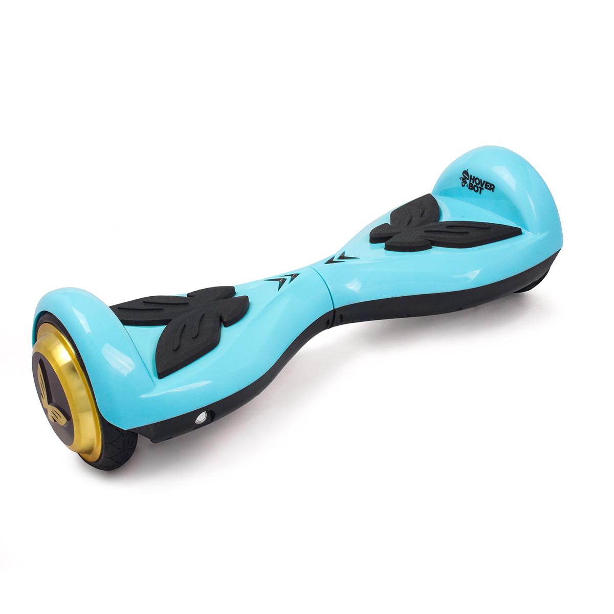 Гироскутер Hoverbot K-2, детский, цвет: синийGK2BEHoverbot K-2 детская модель гироборда. Идеально подойдёт для ребёнка весом до 60 кг, который делает свои первые пробные заезды. Управлять данным устройством очень легко, и ваш ребёнок быстро освоит все азы управления. Педали из мягкой резины выполнены в форме бабочек. Дизайн гироборда оценят девочки любого возраста. Колёса выполнены из прочной резины, колёсные диски имеют золотой цвет. Покупая Hoverbot K-2 вы приобретаете долговечное и безопасное устройство из прочного пластика, в ярком дизайне и с отличными техническими характеристиками. Технические характеристики: Возможная дистанция: 10 км Максимальная скорость: 5 км/ч Аккумулятор: Lithium 42V 2.2 AH Размер колеса: 4,5 d Мощность мотора: 2 х 250W Максимальная нагрузка: 60 кг Время заряда/сеть: 60 мин/220В Вес нетто: 6 кг Вес брутто: 8 кг Влагозащита: IP54, Условия эксплуатации: -10°C + 50°C. Комплектация: Зарядное устройство, гарантийный талон, сертификат, инструкция