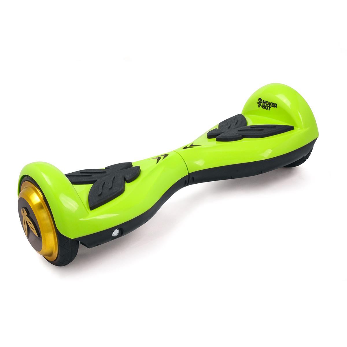 Гироскутер Hoverbot K-2, детский, цвет: зеленыйGK2GNHoverbot K-2 детская модель гироборда. Идеально подойдёт для ребёнка весом до 60 кг, который делает свои первые пробные заезды. Управлять данным устройством очень легко, и ваш ребёнок быстро освоит все азы управления. Педали из мягкой резины выполнены в форме бабочек. Дизайн гироборда оценят девочки любого возраста. Колёса выполнены из прочной резины, колёсные диски имеют золотой цвет. Покупая Hoverbot K-2 вы приобретаете долговечное и безопасное устройство из прочного пластика, в ярком дизайне и с отличными техническими характеристиками. Технические характеристики: Возможная дистанция: 10 км Максимальная скорость: 5 км/ч Аккумулятор: Lithium 42V 2.2 AH Размер колеса: 4,5 d Мощность мотора: 2 х 250W Максимальная нагрузка: 60 кг Время заряда/сеть: 60 мин/220В Вес нетто: 6 кг Вес брутто: 8 кг Влагозащита: IP54, Условия эксплуатации: -10°C + 50°C. Комплектация: Зарядное устройство, гарантийный талон, сертификат, инструкция