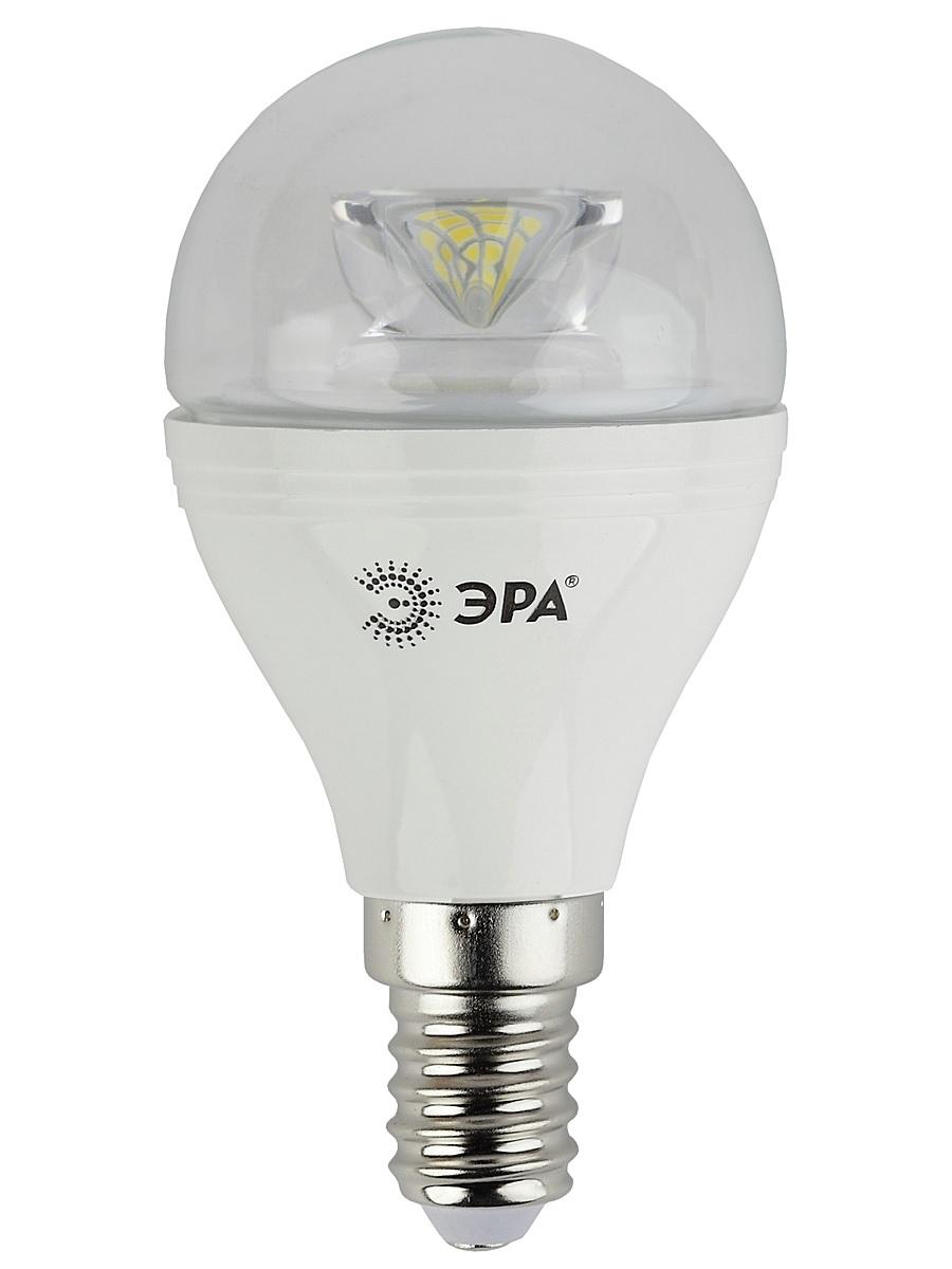 Лампа светодиодная ЭРА, цоколь E14, 170-265V, 7W, 2700К5055945518429Светодиодная лампа ЭРА является самым перспективным источником света. Основным преимуществом данного источника света является длительный срок службы и очень низкое энергопотребление, так, например, по сравнению с обычной лампой накаливания светодиодная лампа служит в среднем в 50 раз дольше и потребляет в 10-15 раз меньше электроэнергии. При этом светодиодная лампа практически не подвержена механическому воздействию из-за прочной конструкции и позволяет получить любой цвет светового потока, что, несомненно, расширяет возможности применения и позволяет создавать новые решения в области освещения. Особенности серии Clear: Лампы предназначены для хрустальных люстр. Угол рассеивания светового потока 270 градусов Световая отдача - 90-100 лм/Вт Срок службы - 30000 часов Гарантия - 2 года Совместимы с выключателями с подсветкой.