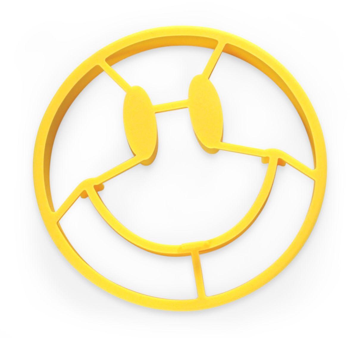 Форма для яичницы Fred, цвет: желтый5130364Омлет в форме того самого, запатентованного оригинального смайла? Легко! Силиконовая термостойкая форма поможет. Поместите ее в горячую сковороду, влейте омлет, и готово.