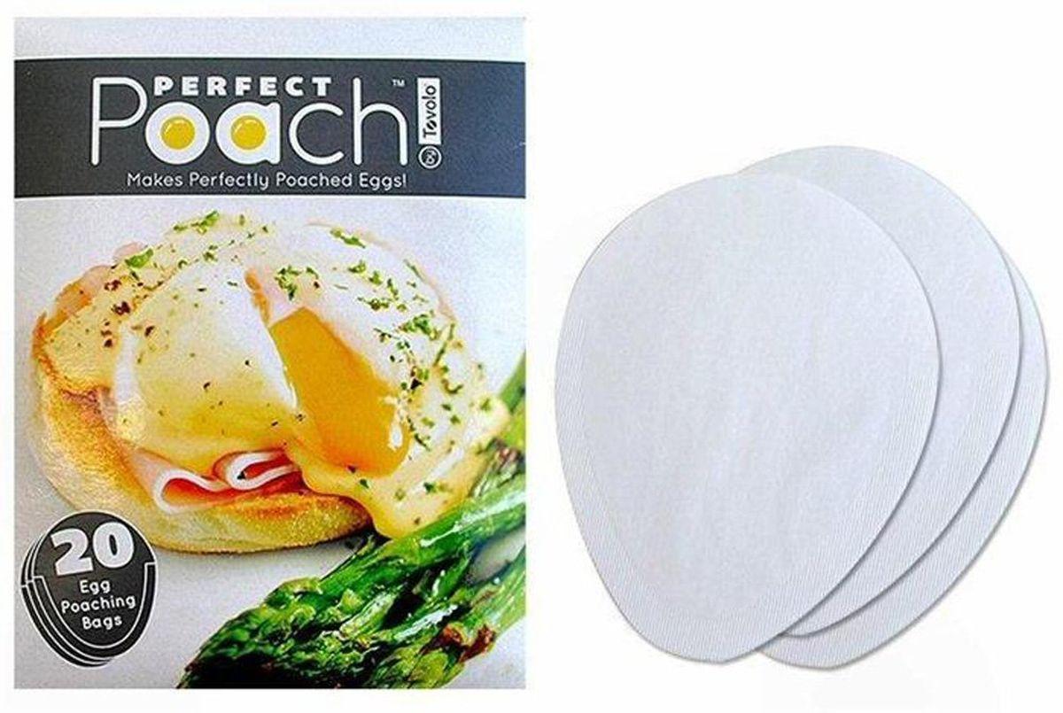 Набор мешочков для приготовления яйца пашот Tovolo, одноразовые, 20 шт81-3538Отличная идея, облегчающая приготовление идеального яйца пашот. Одноразовый мешочек из биоразлагаемого экологичного материала прост в использовании, и не требует ни масла, ни уксуса. Одна упаковка содержит 20 мешочков.