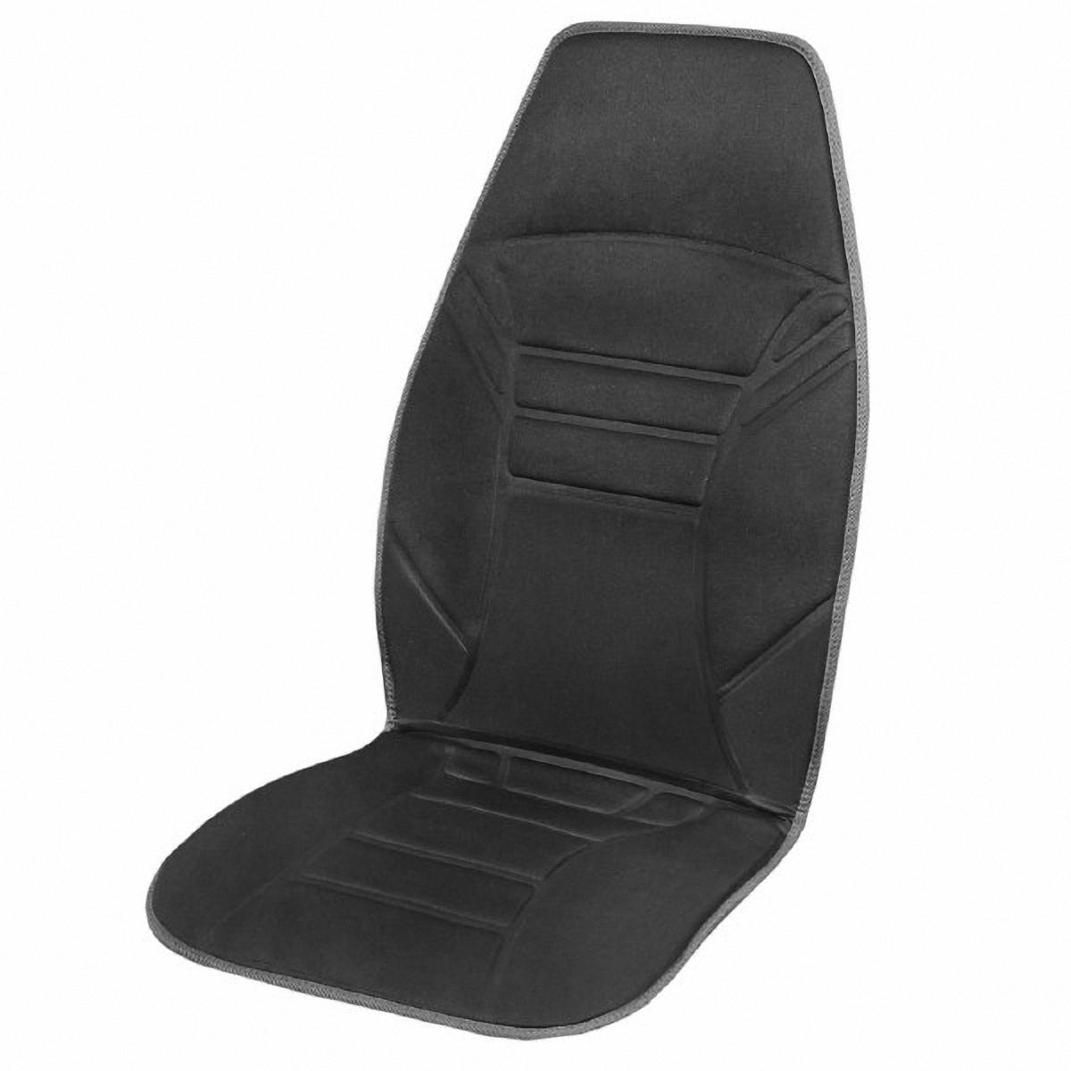 Подогрев для сиденья Skyway 12V, со спинкой, с терморегулятором, 2 режима, 2,5А-3А, цвет: черный, 118 х 53 смS02201020