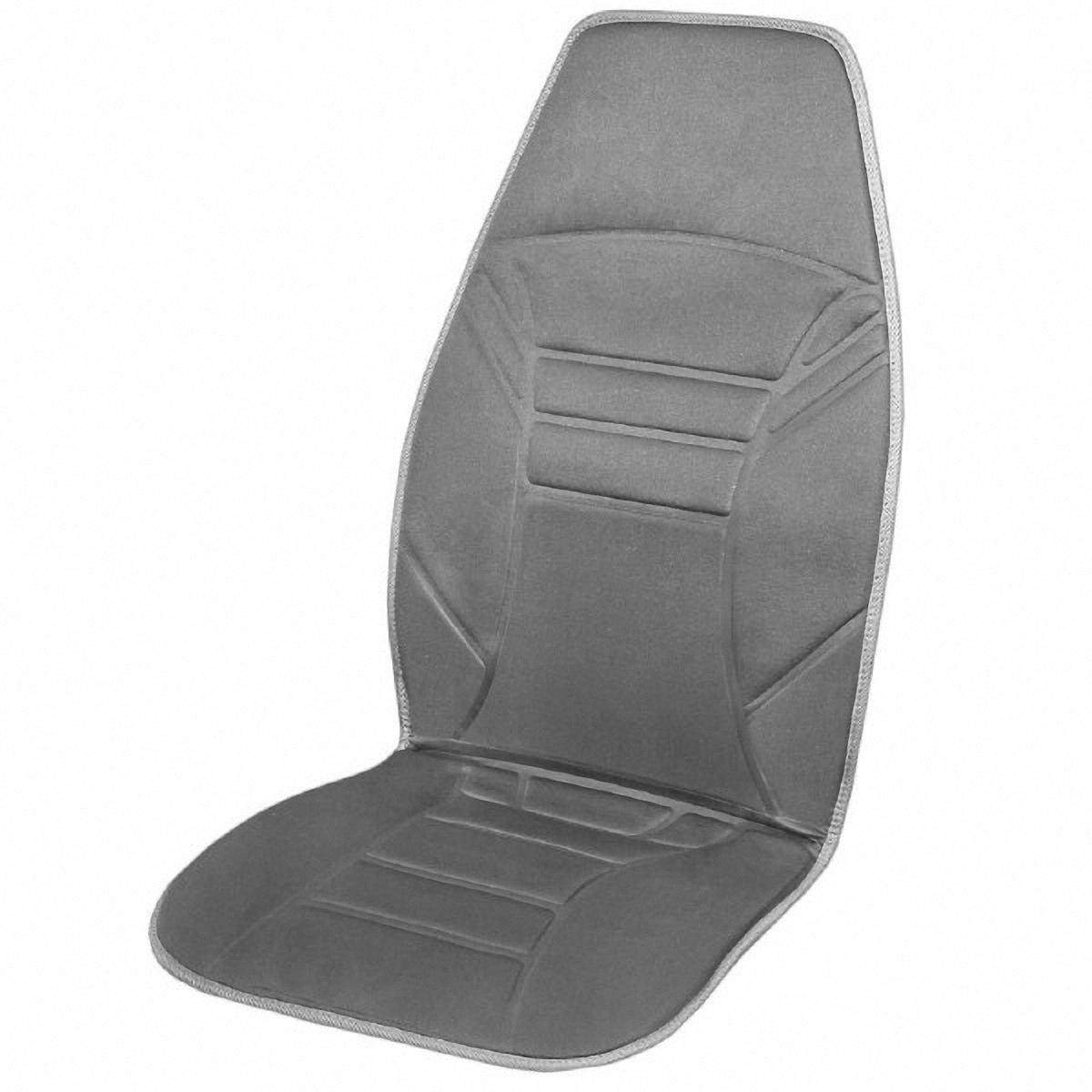 Подогрев для сиденья Skyway 12V, со спинкой, с терморегулятором, 2 режима, 2,5А-3А, цвет: серый, 118 х 53 смS02201021