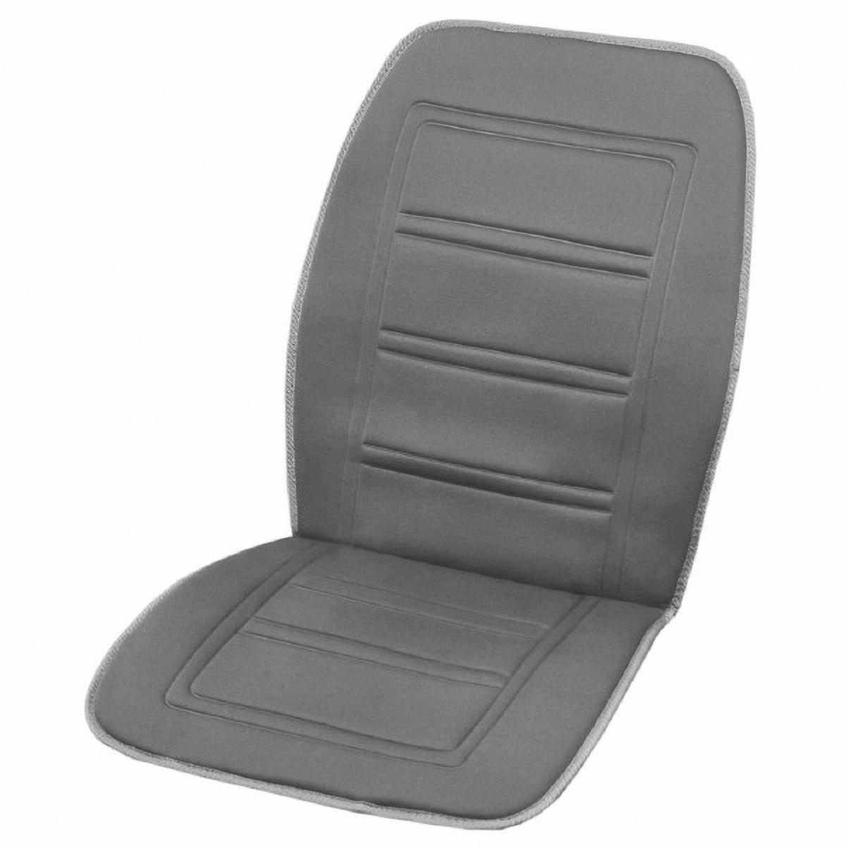 Подогрев для сиденья Skyway 12V, со спинкой, с терморегулятором, 2 режима, 2,5А-3А, цвет: серый, 95 х 47 смS02201024
