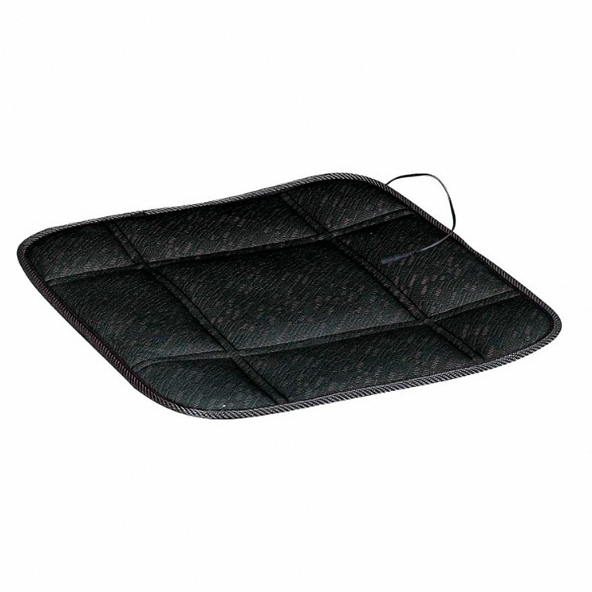 Подогрев для сиденья Skyway 12V, без спинки, 2,5А-3А, цвет: черный, 43 х 43 смS02203003