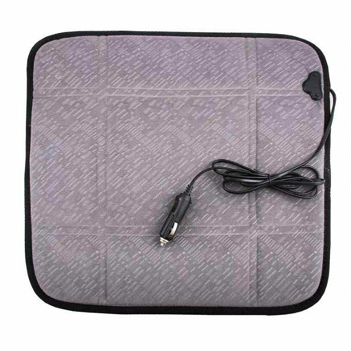 Подогрев для сиденья Skyway 12V, без спинки, 2,5А-3А, цвет: серый, 43 х 43 смS02203004