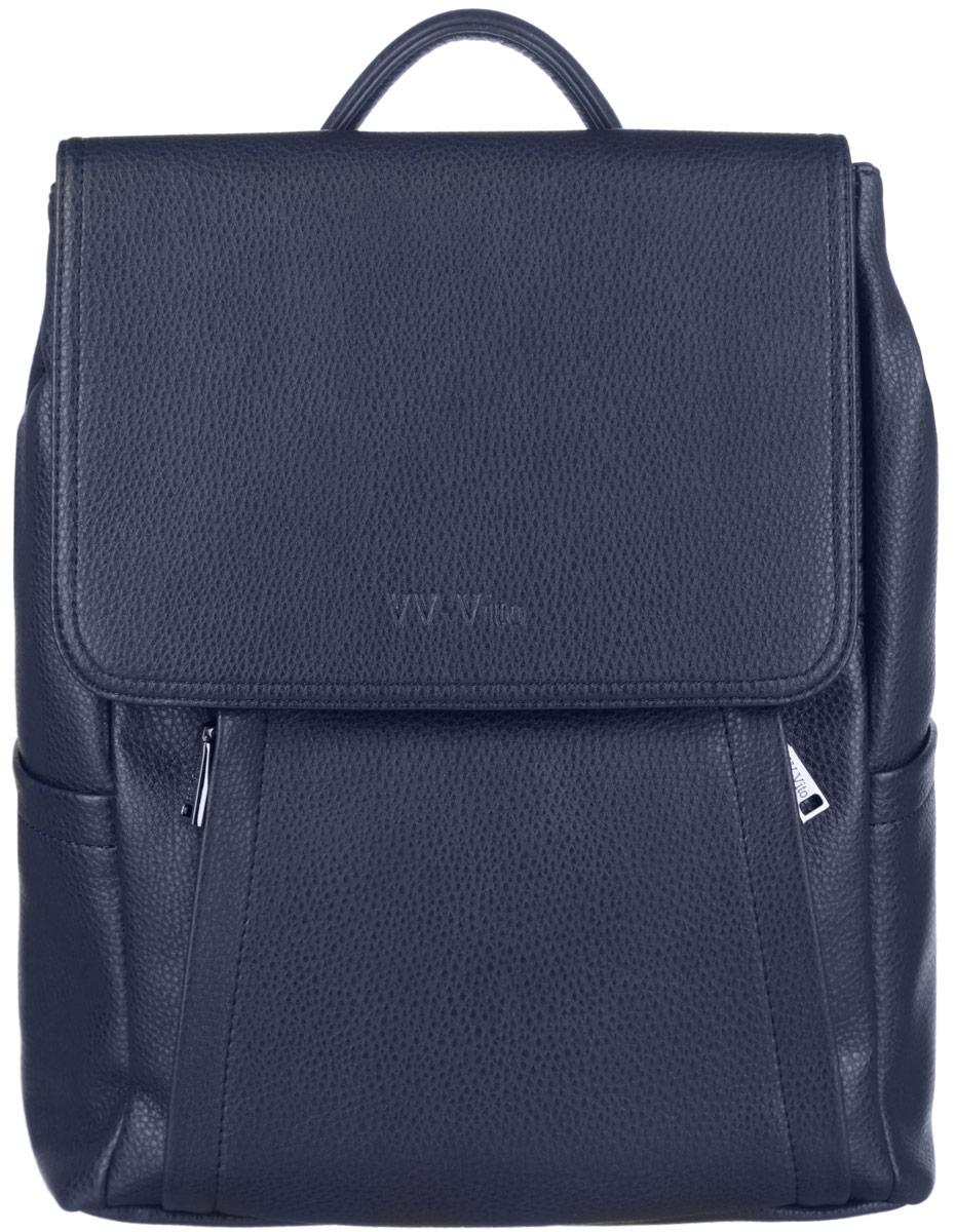 Рюкзак мужской Vera Victoria Vito, цвет: темно-синий. 35-613-535-613-5Стильный мужской рюкзак Vera Victoria Vito выполнен из экокожи и текстиля. Изделие имеет одно основное отделение, которое закрывается на застежку-молнию. Внутри изделия расположены прорезной карман на застежке-молнии, накладной открытый карман и мягкий карман для планшета. Закрывается изделие на клапан с магнитами, по бокам фиксируется на кнопки. Снаружи, на передней стенке находятся нашивные карманы на застежках- молниях, по бокам - накладные открытые карманы. Рюкзак оснащен широкими лямками регулируемой длины и ручкой для переноски в руке. Практичный и стильный аксессуар позволит вам завершить свой образ.