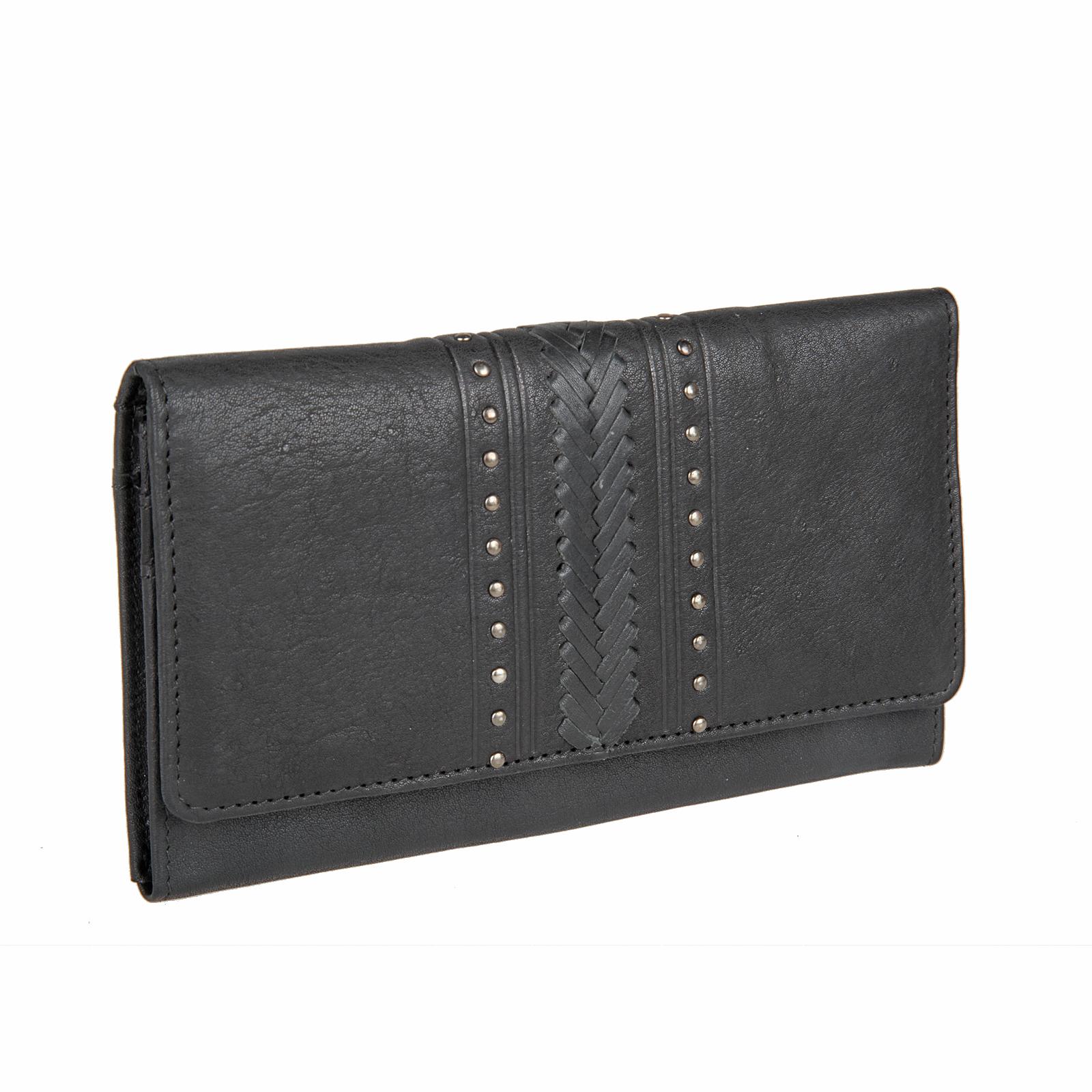 Кошелек женский Bodenschatz, цвет: черный. 4-020 black4-020 blackЗакрывается клапаном на кнопке, три отдела для купюр, три кармашка под пластиковые карты, кармашек сетка для пропуска, снаружи кармашек на молнии.