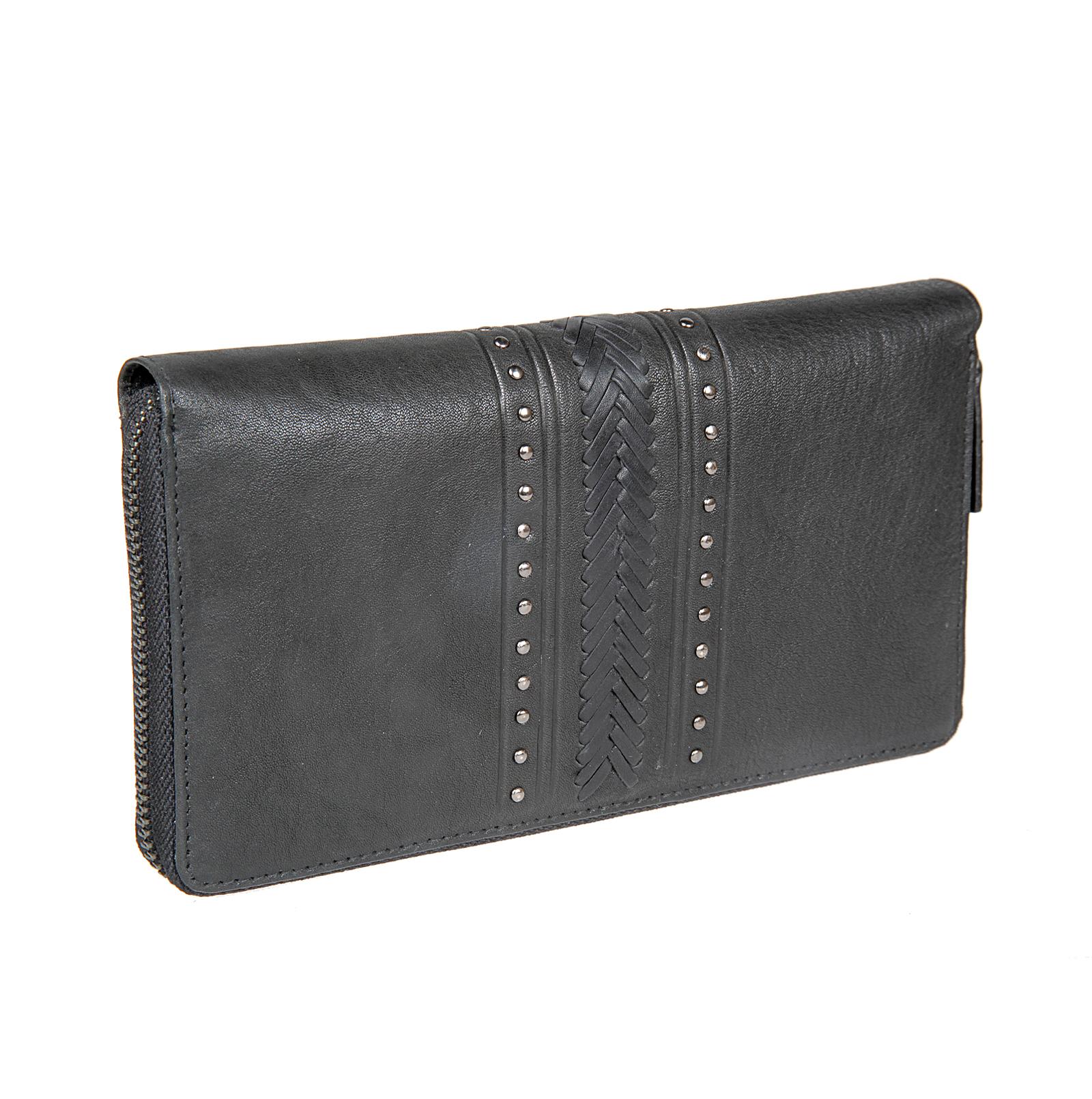 Кошелек женский Bodenschatz, цвет: черный. 4-023 black4-023 blackРаскладывается пополам, внутри четыре отделения для купюр, карман на молнии, четыре отделения для пластиковых карт, карман с сеточкой.