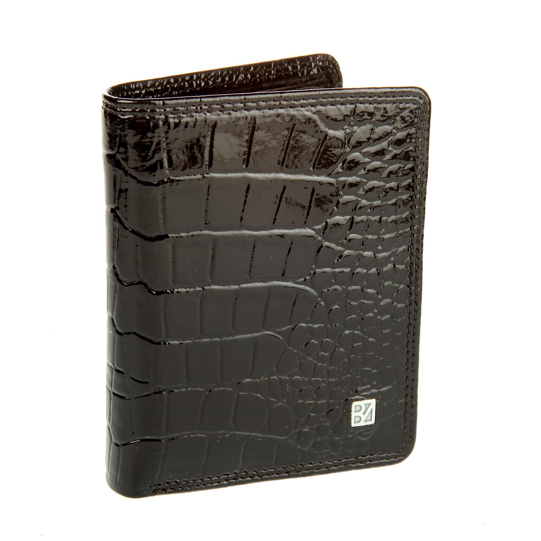 Кошелек женский Bodenschatz, цвет: черный. 4-753 black4-753 blackРаскладывается пополам, внутри одно отделение для купюр, два потайных кармашка, девять кармашков для пластиковых карт.