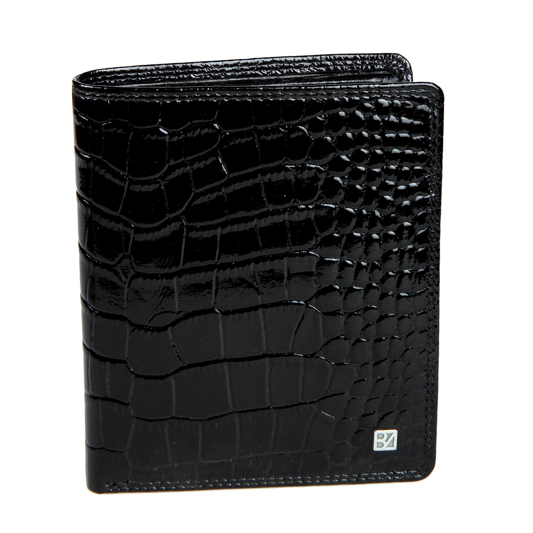 Портмоне женское Bodenschatz, цвет: черный. 4-762 black4-762 blackРаскладывается пополам, внутри два отделение для купюр, девять кармашков для пластиковых карт, сетчатый карман для пропуска, карман для мелочи на кнопке, пять карманов для документов.