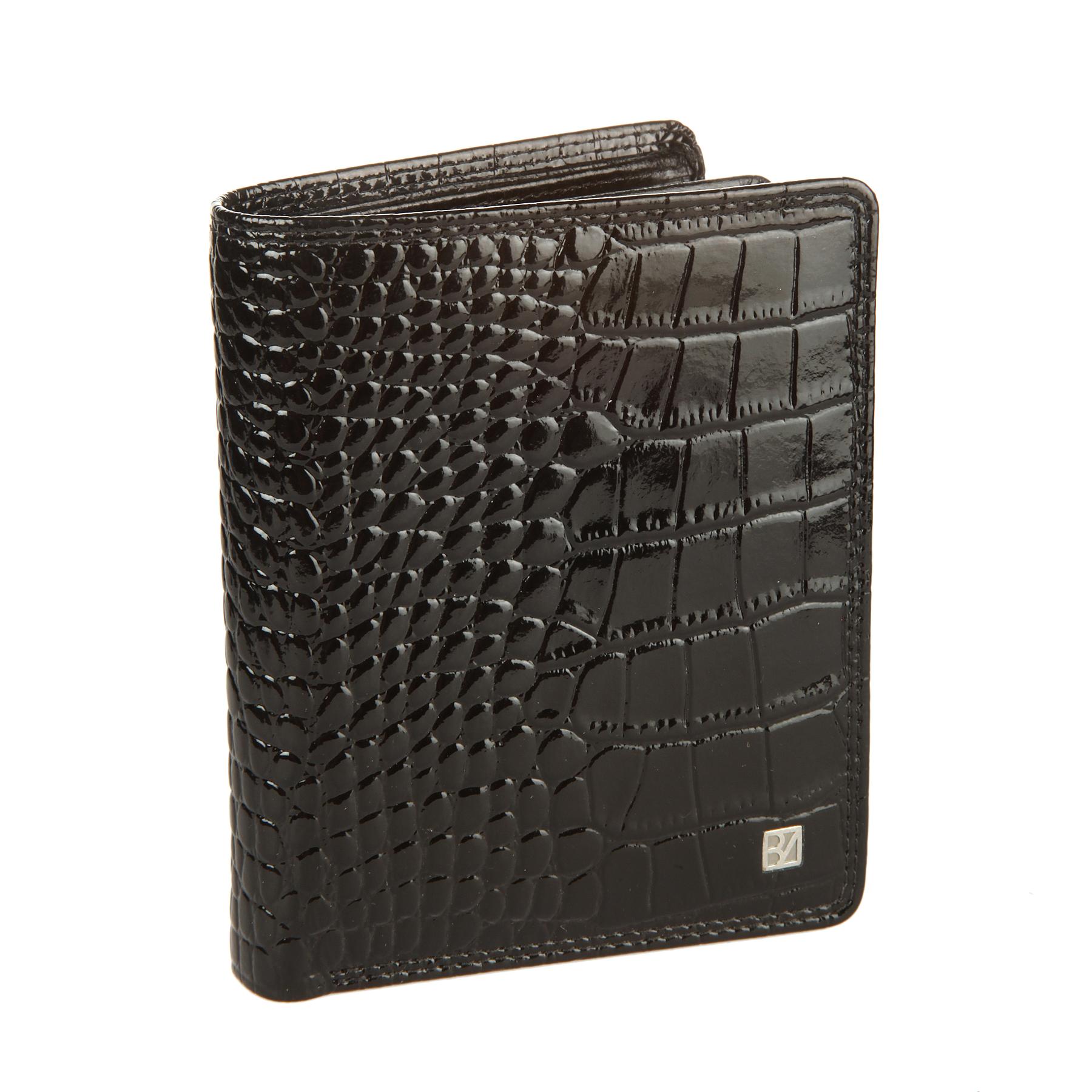 Кошелек женский Bodenschatz, цвет: черный. 4-768 black4-768 blackРаскладывается пополам, внутри два отдела для купюр, шесть кармашков для пластиковых карт, отделение для мелочи на кнопке, сетчатый кармашек для пропуска.