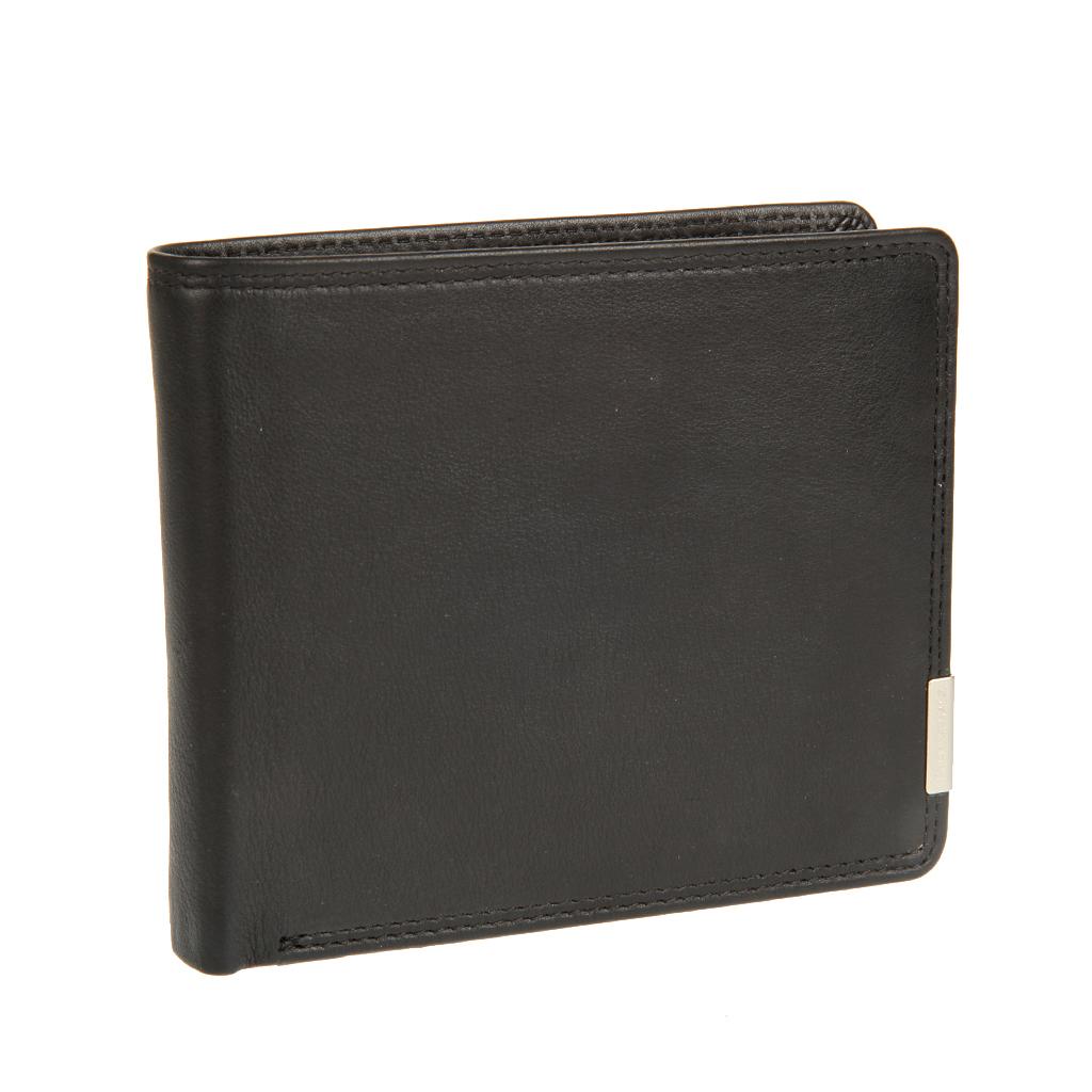 Портмоне мужское Bodenschatz, цвет: черный. 8-742 black8-742 blackРаскладывается пополам, внутри два отдела для купюр, восемь кармашков для пластиковых карт, три кармашка для документов, один из них сетчатый, карман для мелочи на кнопке.