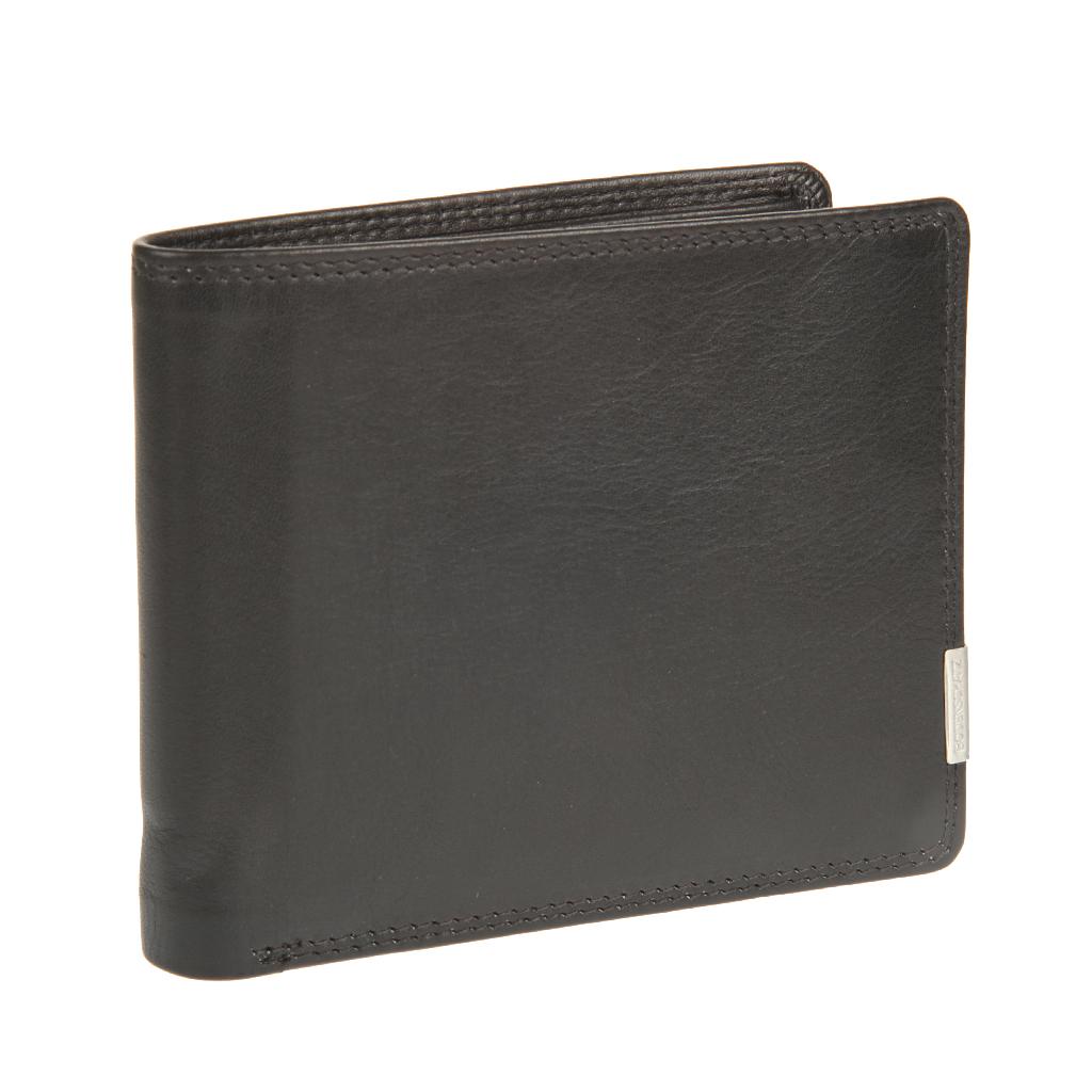 Портмоне мужское Bodenschatz, цвет: черный. 8-777 black8-777 blackРаскладывается пополам, внутри один отдел для купюр, в котором предусмотрен потайной клапан для крупных купюр, карман для документов, сетчатый карман для пропуска, четыре кармашка для пластиковых карт. Дополнительно прилагается съемное мини-портмоне, внутри которого одно отделение для купюр, два отделения для пластиковых карт, одно отделение для документов, отделение для мелочи на кнопке, дополнительно внутри мини ручка имеет protect pocket - защитный карман от считывания карты.