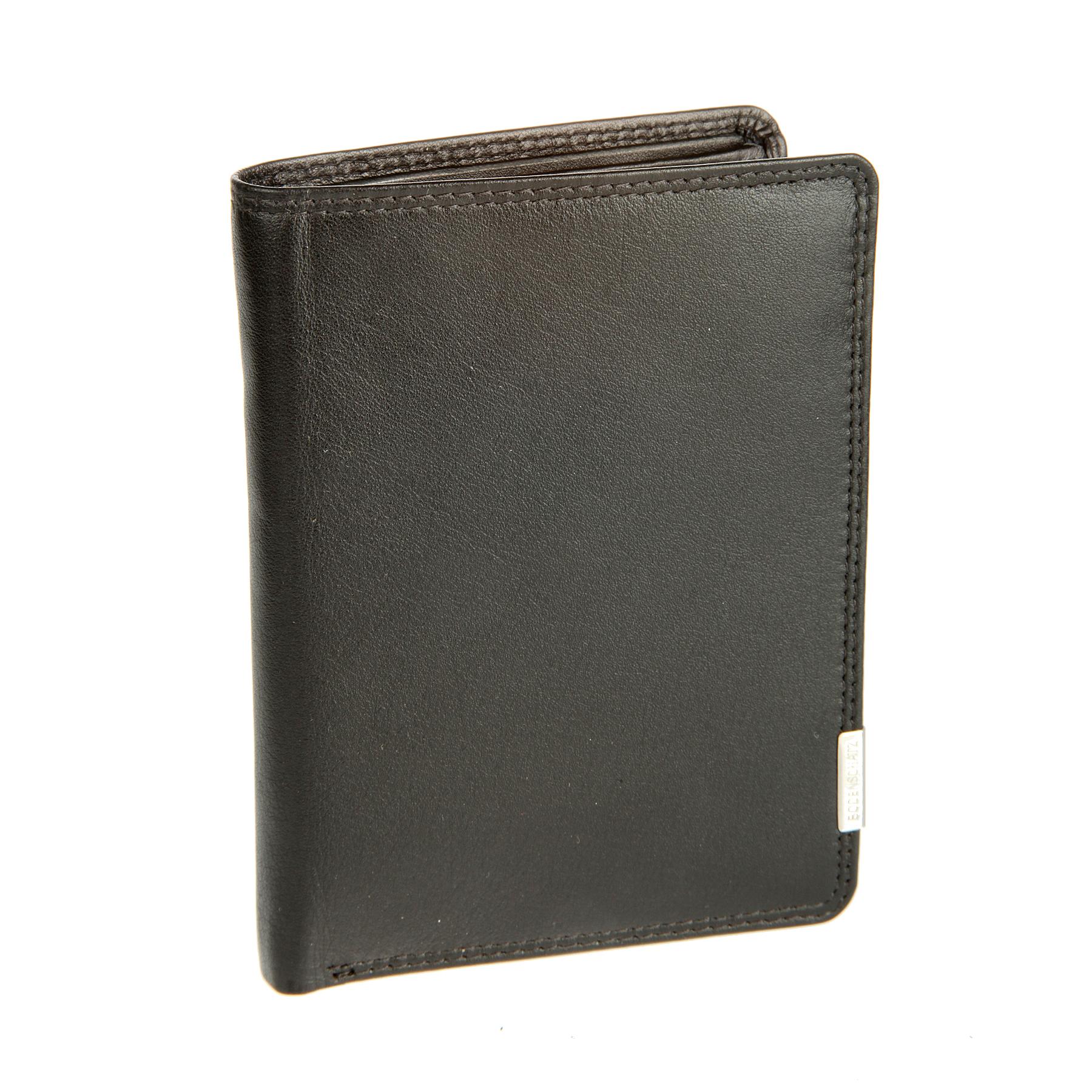 Портмоне мужское Bodenschatz, цвет: черный. 8-787 black8-787 blackРаскладывается пополам, внутри два отдела для купюр, отделение для мелочи на кнопке, три потайных кармана, четыре кармашка для пластиковых карт, сетчатый карман для пропуска. Дополнительно съемный кляссер для документов, в котором имеются два сетчатых кармана и три кармашка для пластиковых карт.