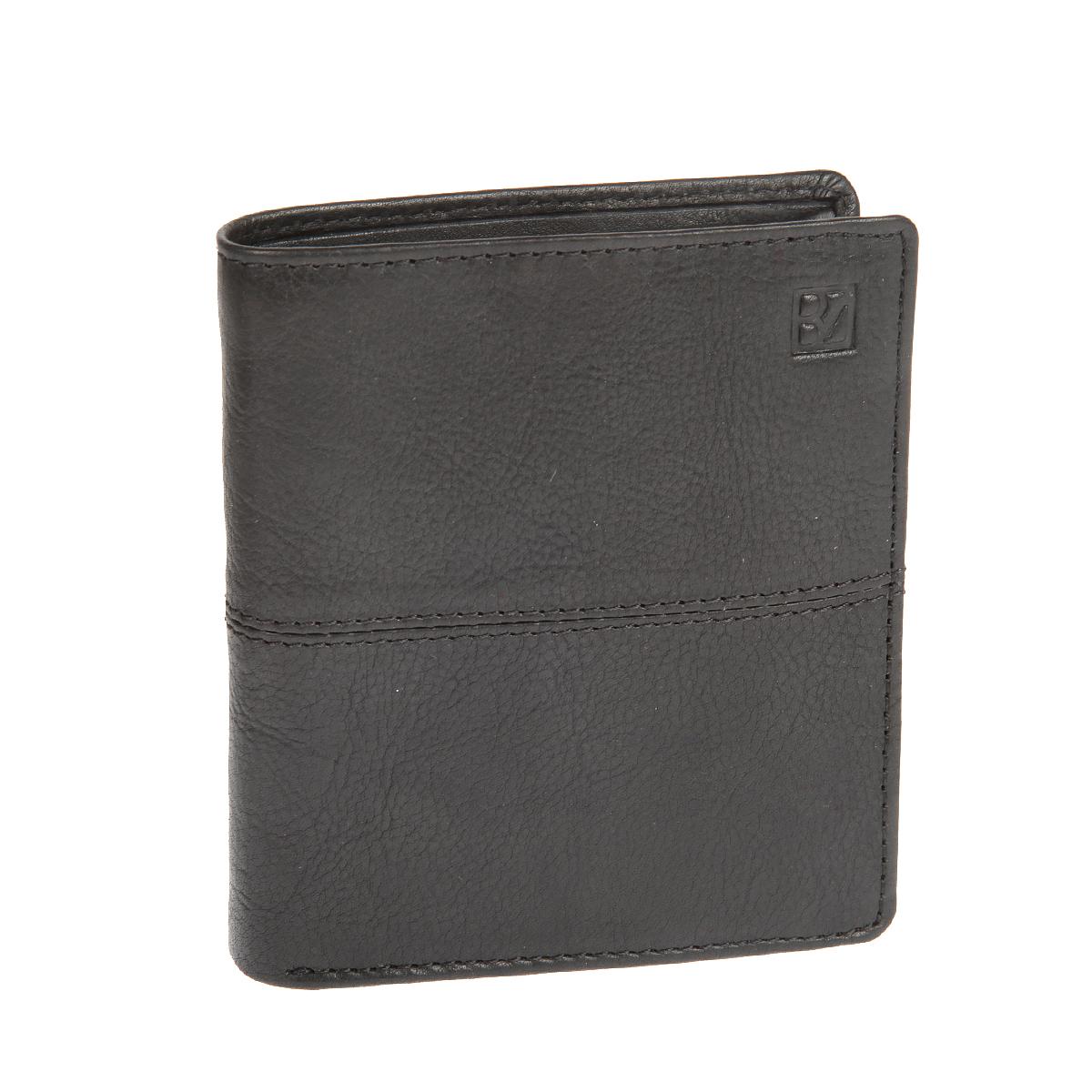 Портмоне мужское Bodenschatz, цвет: черный. 8-994 black8-994 blackРаскладывается пополам, внутри два отдела для купюр, шесть кармашков для пластиковых карт, три сетчатых кармана, потайной карман, карман для мелочи на кнопке.