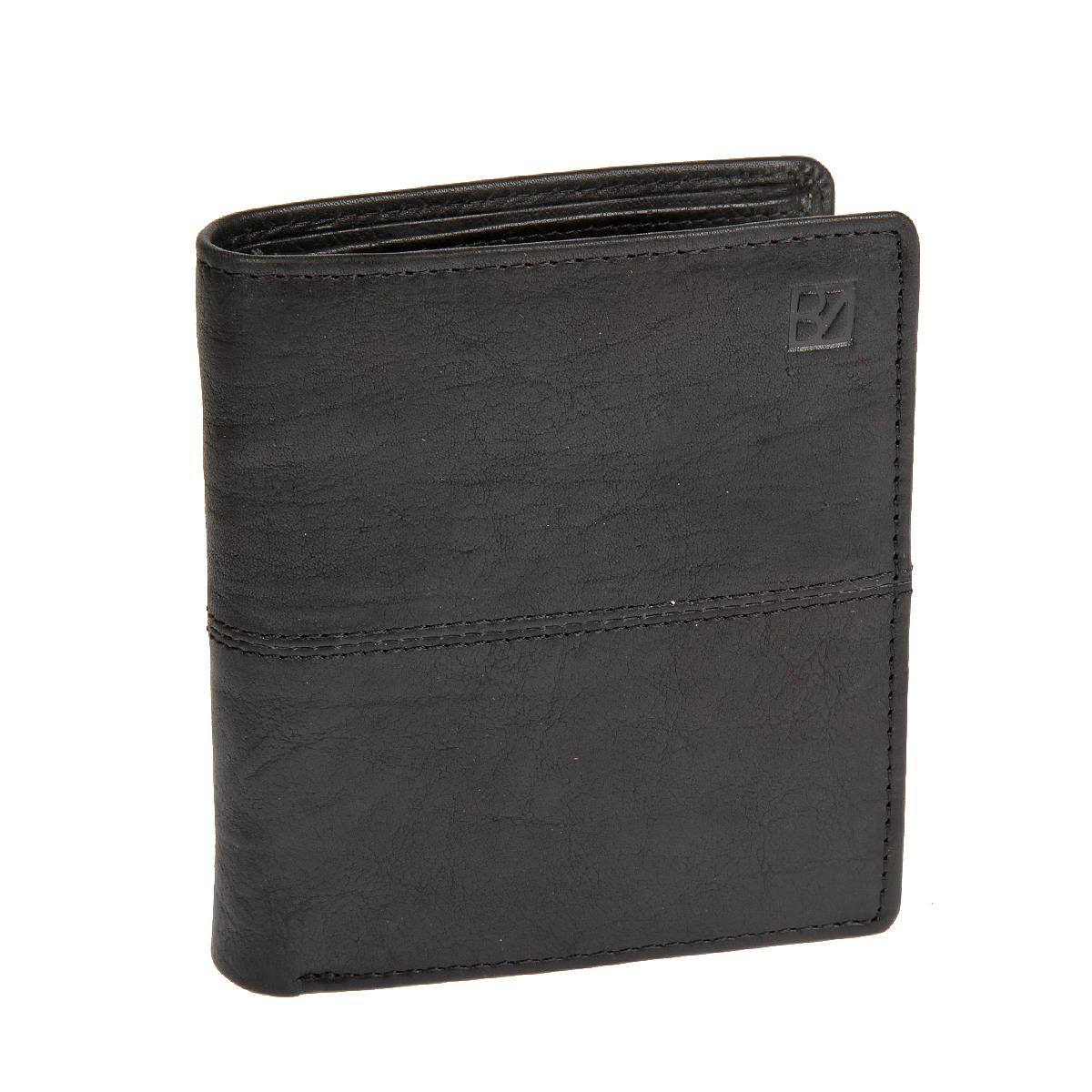 Портмоне мужское Bodenschatz, цвет: черный. 8-995 black8-995 blackРаскладывается пополам, внутри два отдела для купюр, пятнадцать кармашков для пластиковых карт, два потайных кармана, карман для мелочи на кнопке.