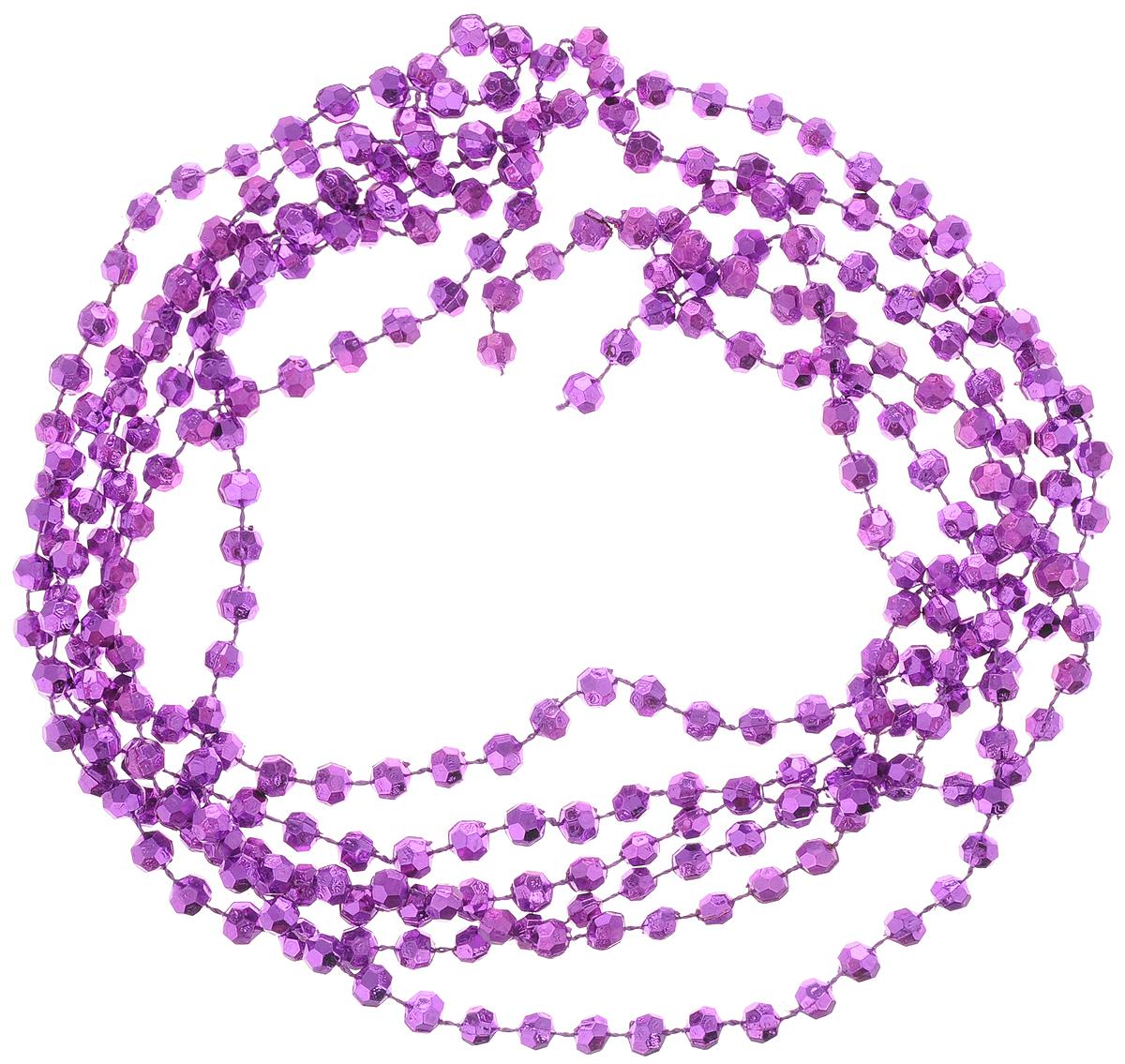 Гирлянда новогодняя Magic Time Пурпурные горошины, 2,7 м42048Новогодняя гирлянда Magic Time Пурпурные горошины, выполненная из полистирола, украсит интерьер вашего дома или офиса в преддверии Нового года. Гирлянда представляет собой бусины на нити. Оригинальный дизайн и красочное исполнение создадут праздничное настроение. Новогодние украшения всегда несут в себе волшебство и красоту праздника. Создайте в своем доме атмосферу тепла, веселья и радости, украшая его всей семьей. Диаметр бусины: 7 мм.