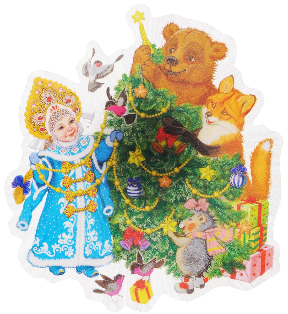 Украшение новогоднее Magic Time Снегурочка и зверята, со светодиодной подсветкой, 11,5 x 11,5 x 3 см42205Новогоднее украшение Magic Time Снегурочка и зверята выполнено из поливинилхлорида. Украшение представляет собой пластиковую картину с изображением снегурочки и лесных зверей. С помощью присоски украшение можно прикрепить на любое понравившееся вам место. Изделие оснащено светодиодной подсветкой. В комплекте предоставлен элемент питания CR2032 (мощность 0,06 Вт, напряжение 3 В) Новогоднее украшение Magic Time Снегурочка и зверята несет в себе волшебство и красоту праздника. Создайте в своем доме атмосферу веселья и радости, с помощью игрушек, которые будут из года в год накапливать теплоту воспоминаний. Материал: поливинилхлорид. Размер: 11,5 х 11,5 х 3 см.